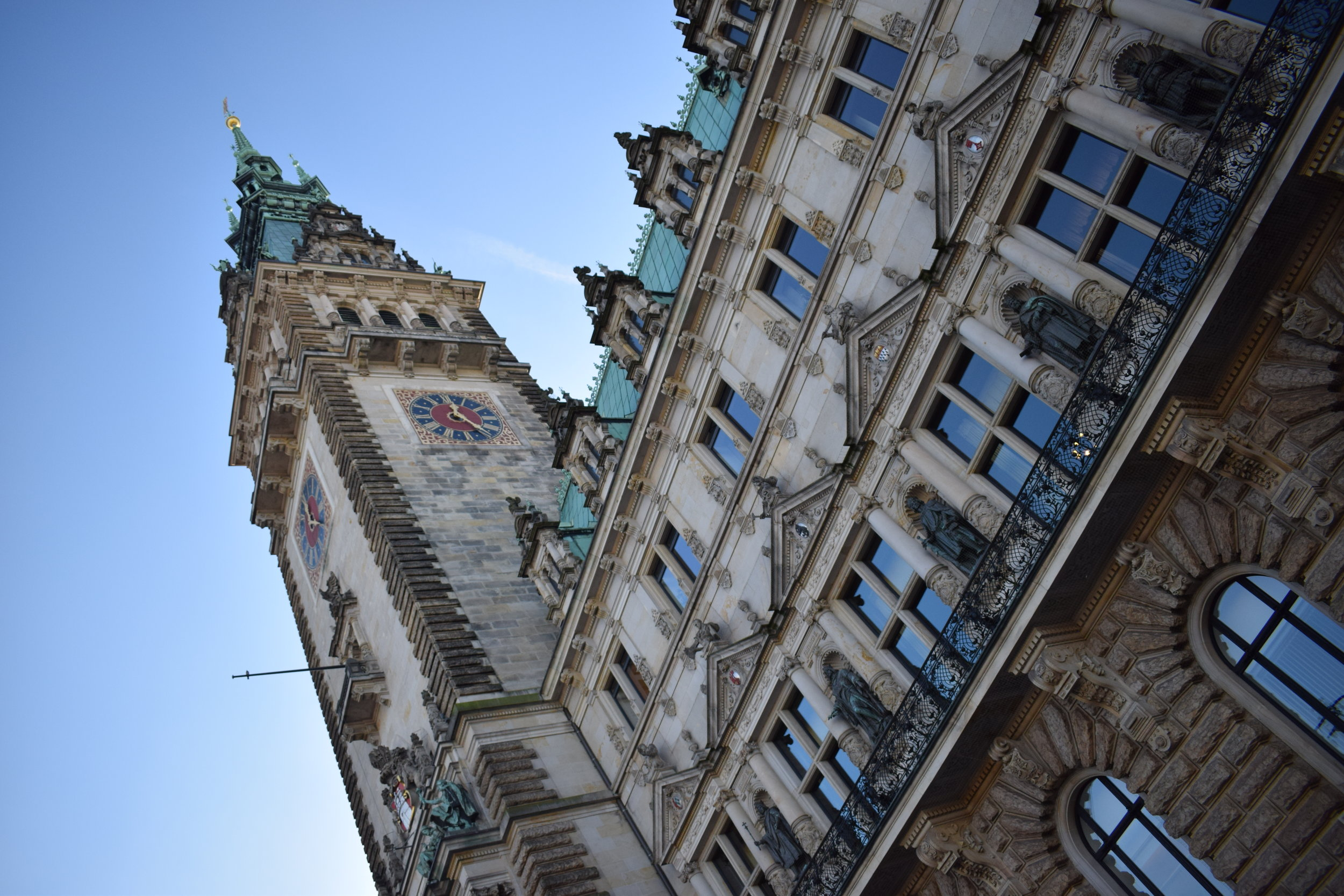The stunning Rathaus provides the backdrop to one of Hamburg's most popular Christmas markets.