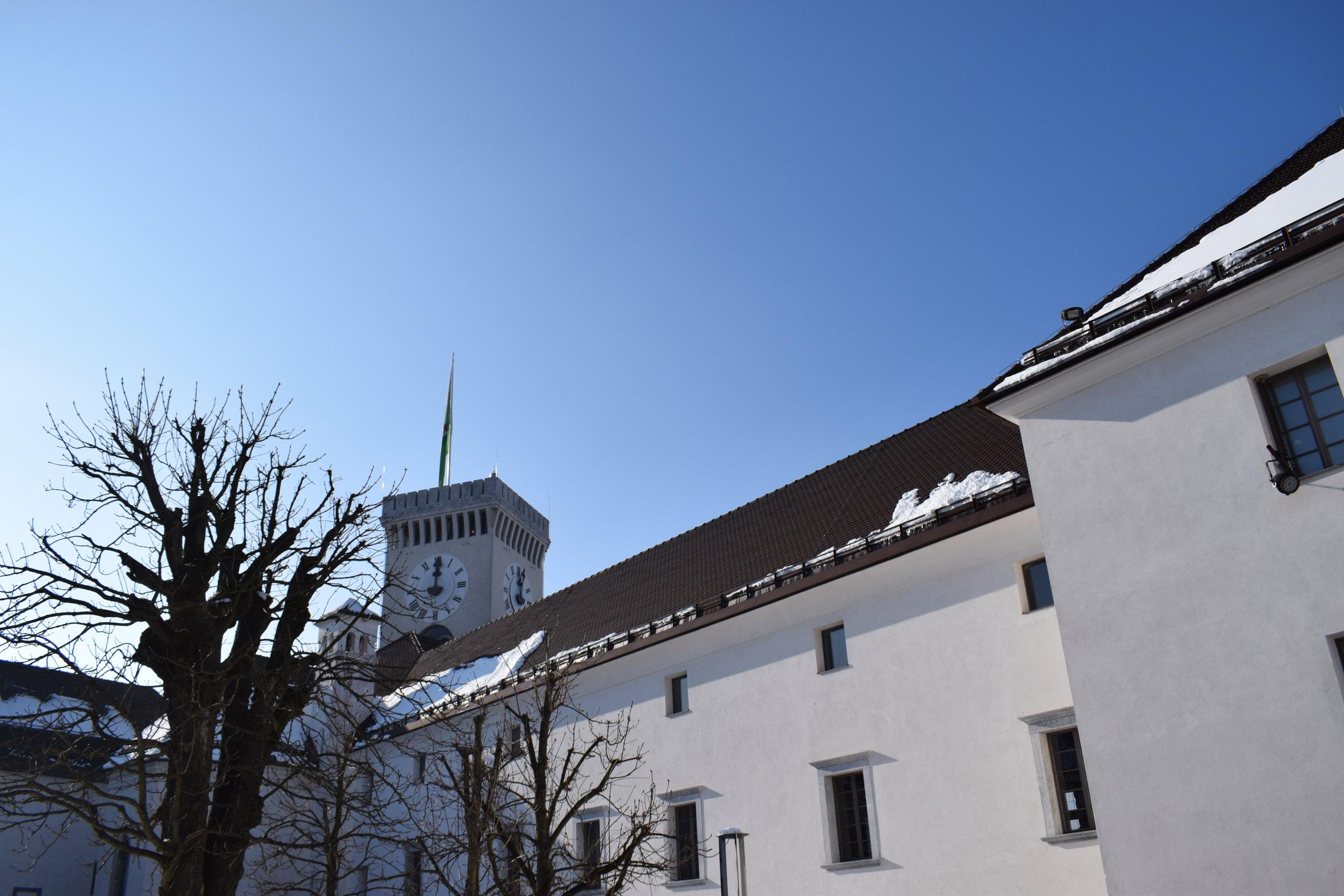 Inside the grounds of Ljubljana Castle.