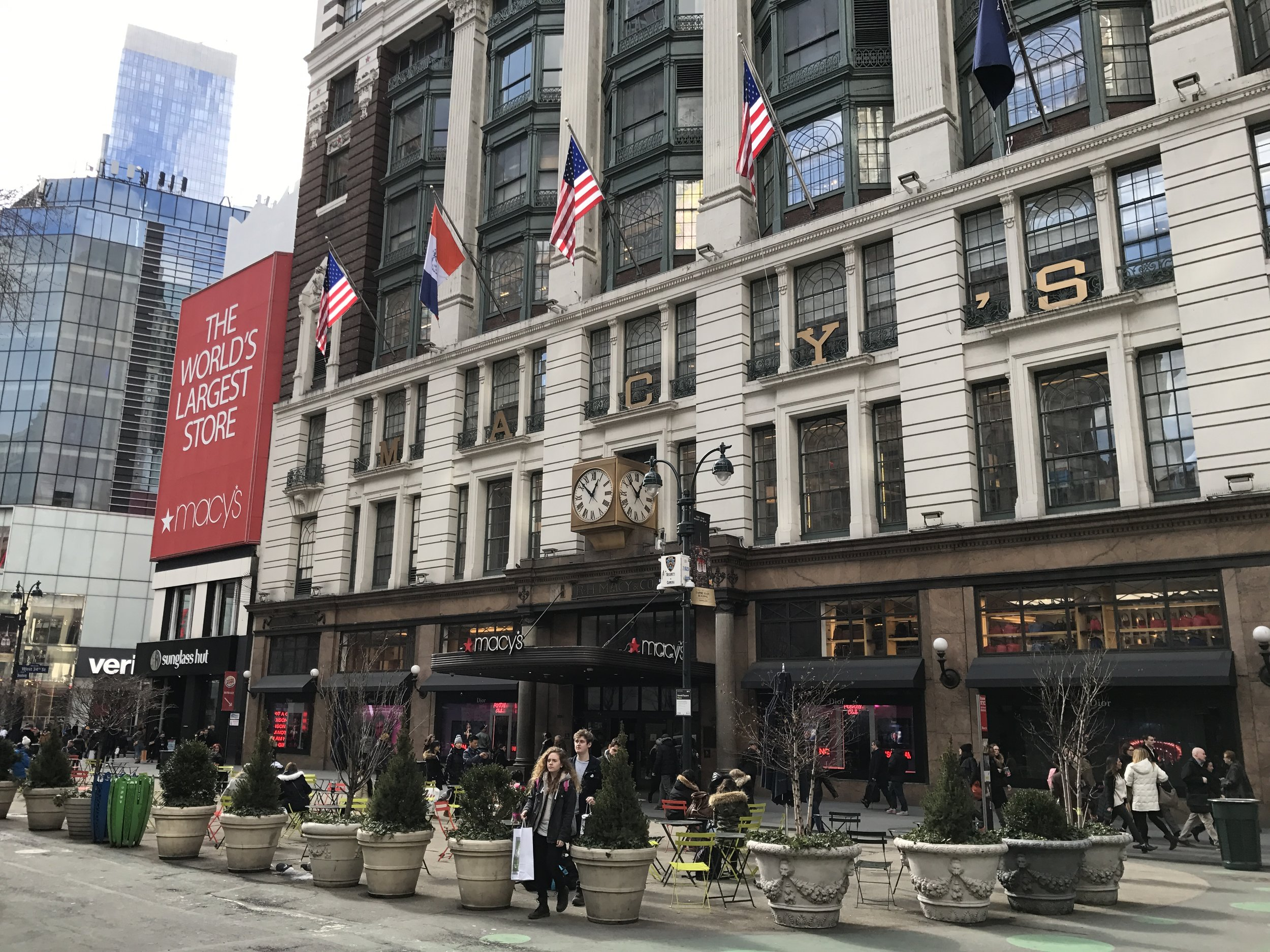 "Apparently the ""World's largest store,"" Macy's in midtown Manhattan."