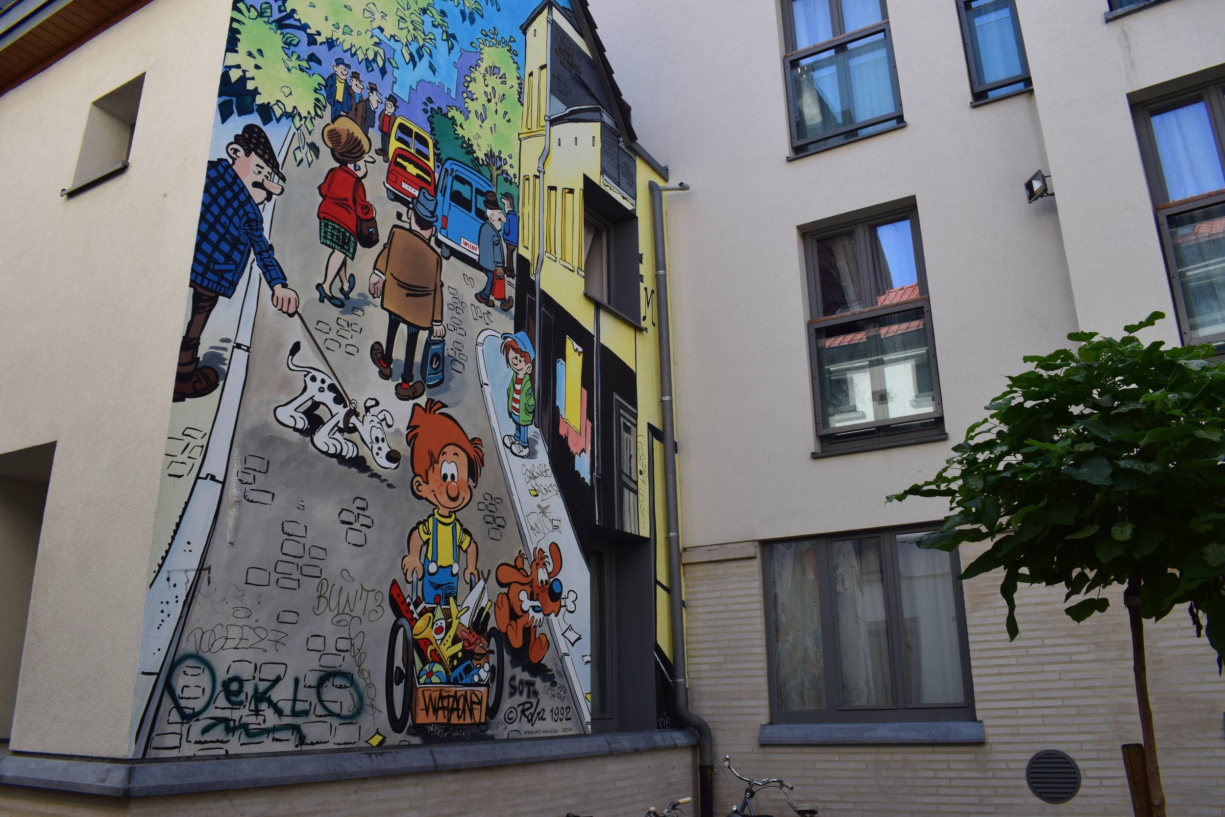 Brussels-Graffiti-Cartoon-Belgium