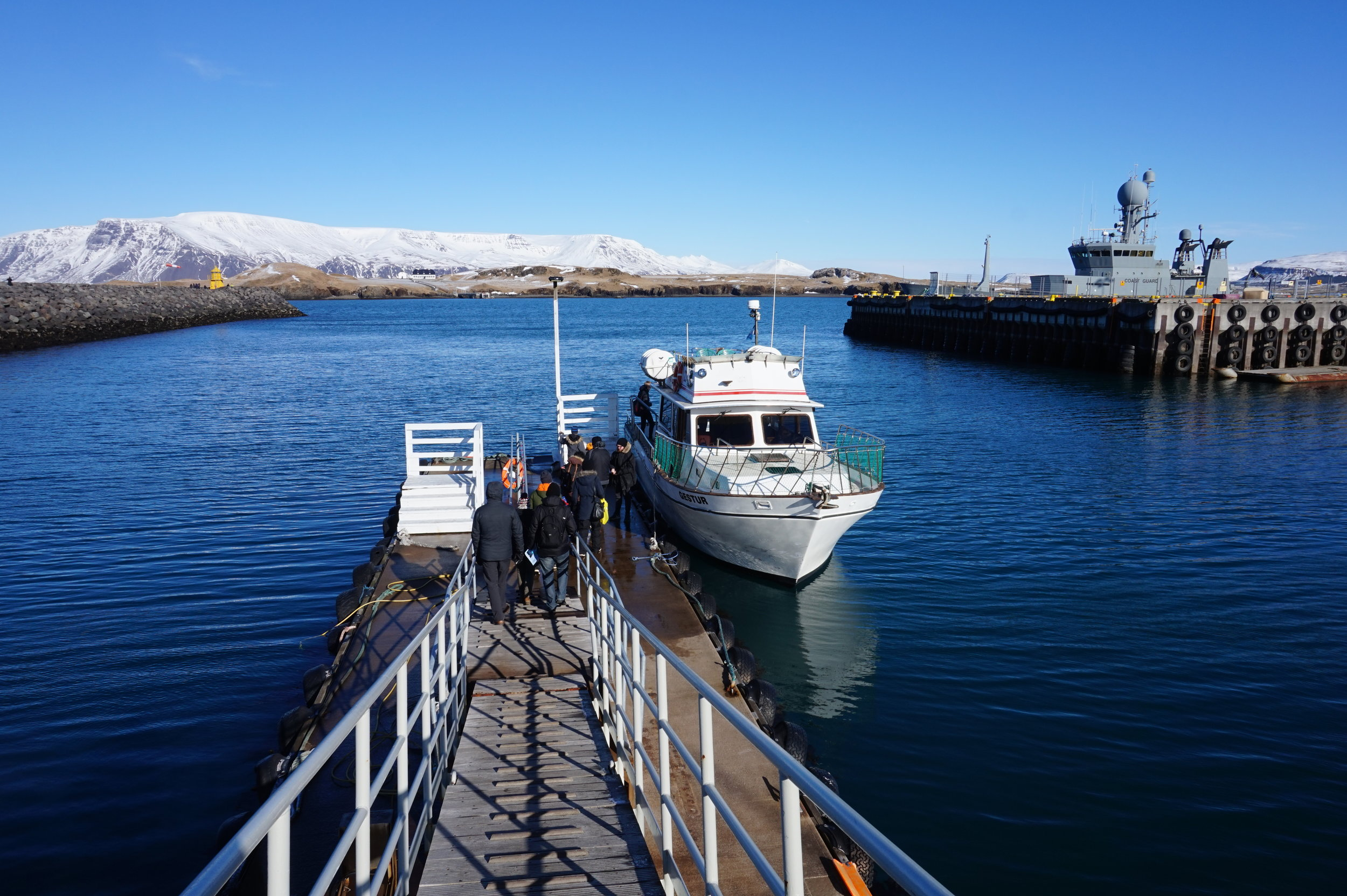 The ferry, which takes visitors from mainland Reykjavík to Videy Island.