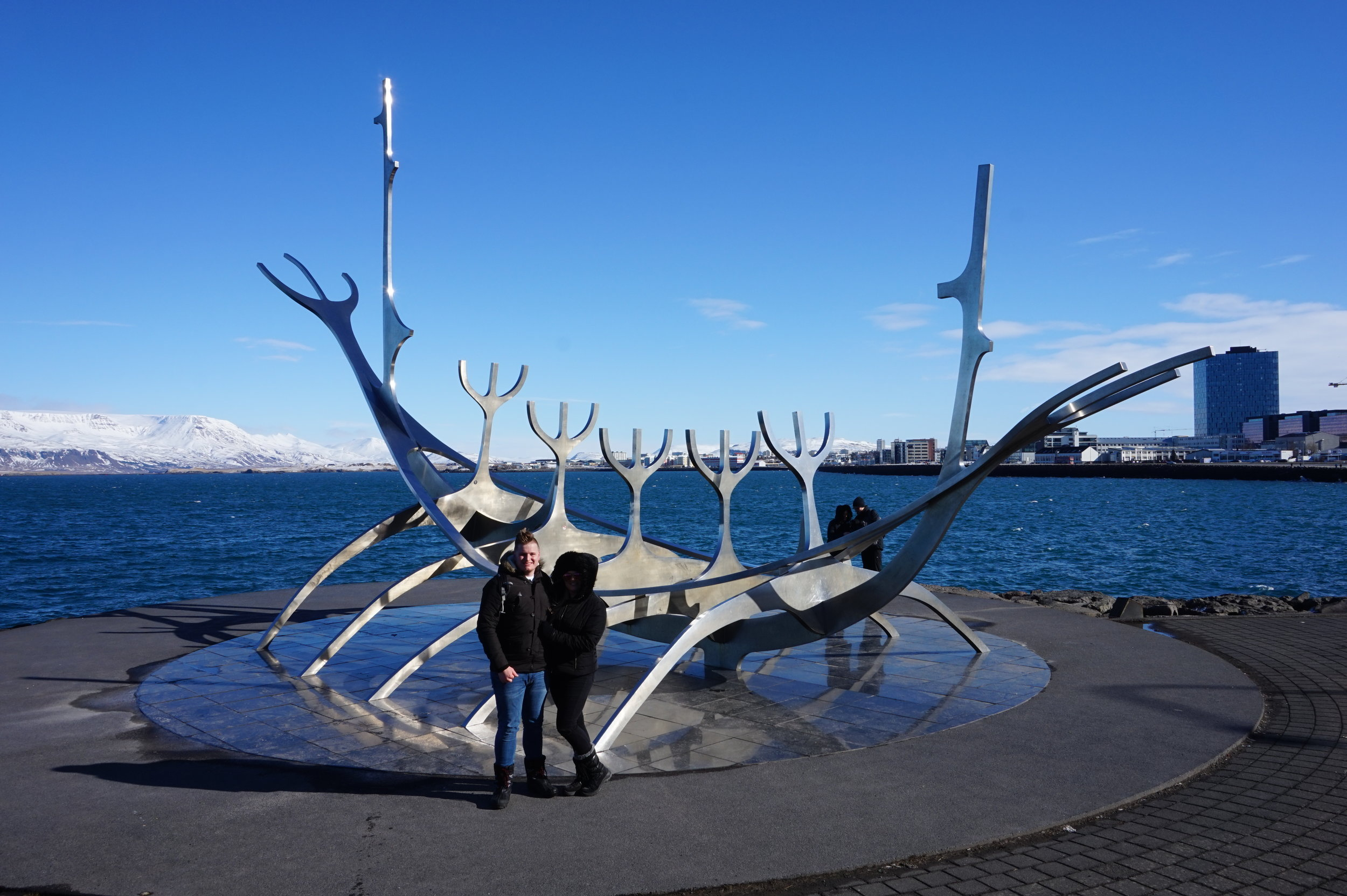 The Sun Voyager Statue - a popular place to pose for a photograph!