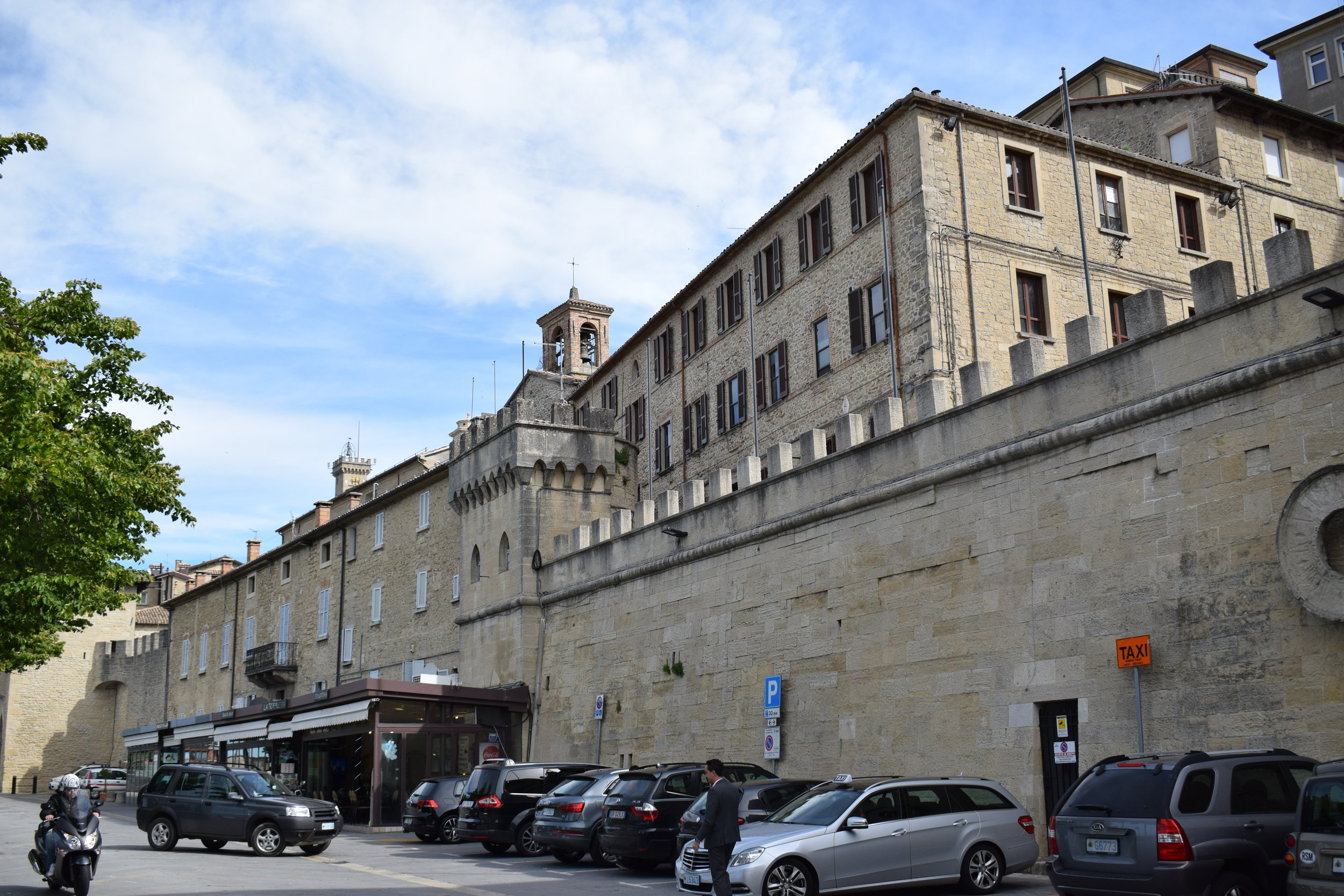 Car parking in the City of San Marino.