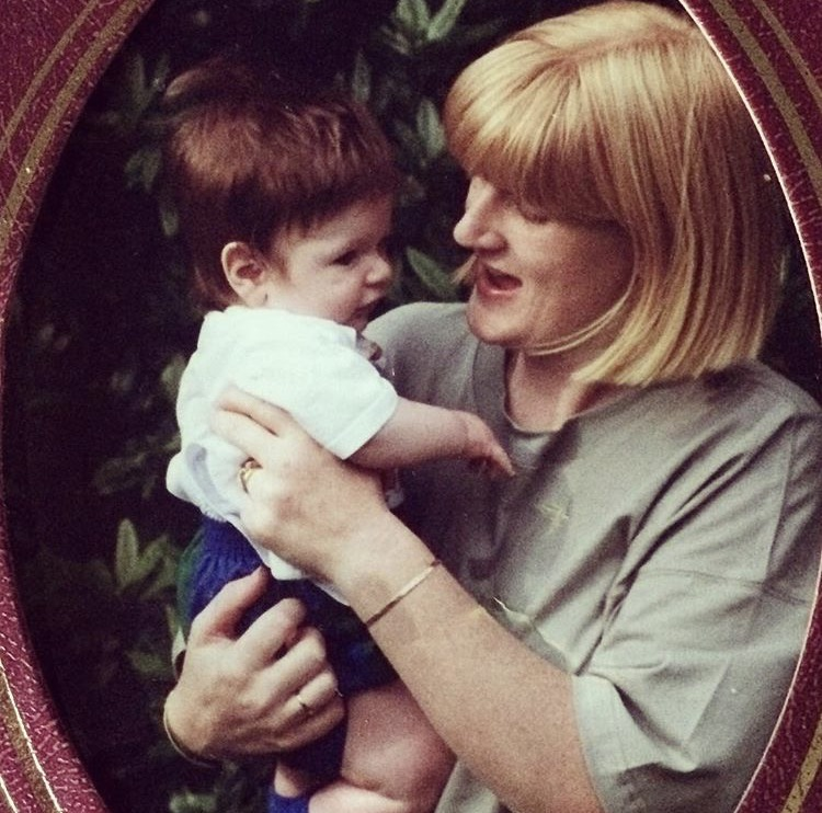 One of my favourite pictures, showing my Mum holding me as a baby.