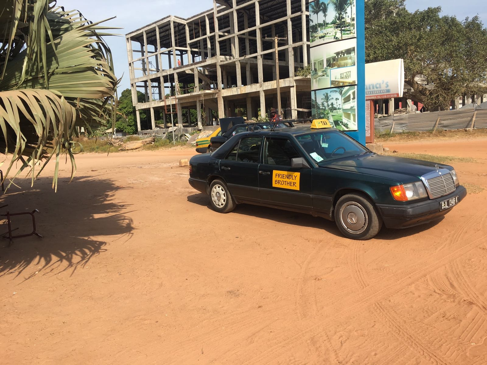"This tourist taxi may say ""Friendly Brother"" on the side, but they will still offer much higher prices than bush taxis."