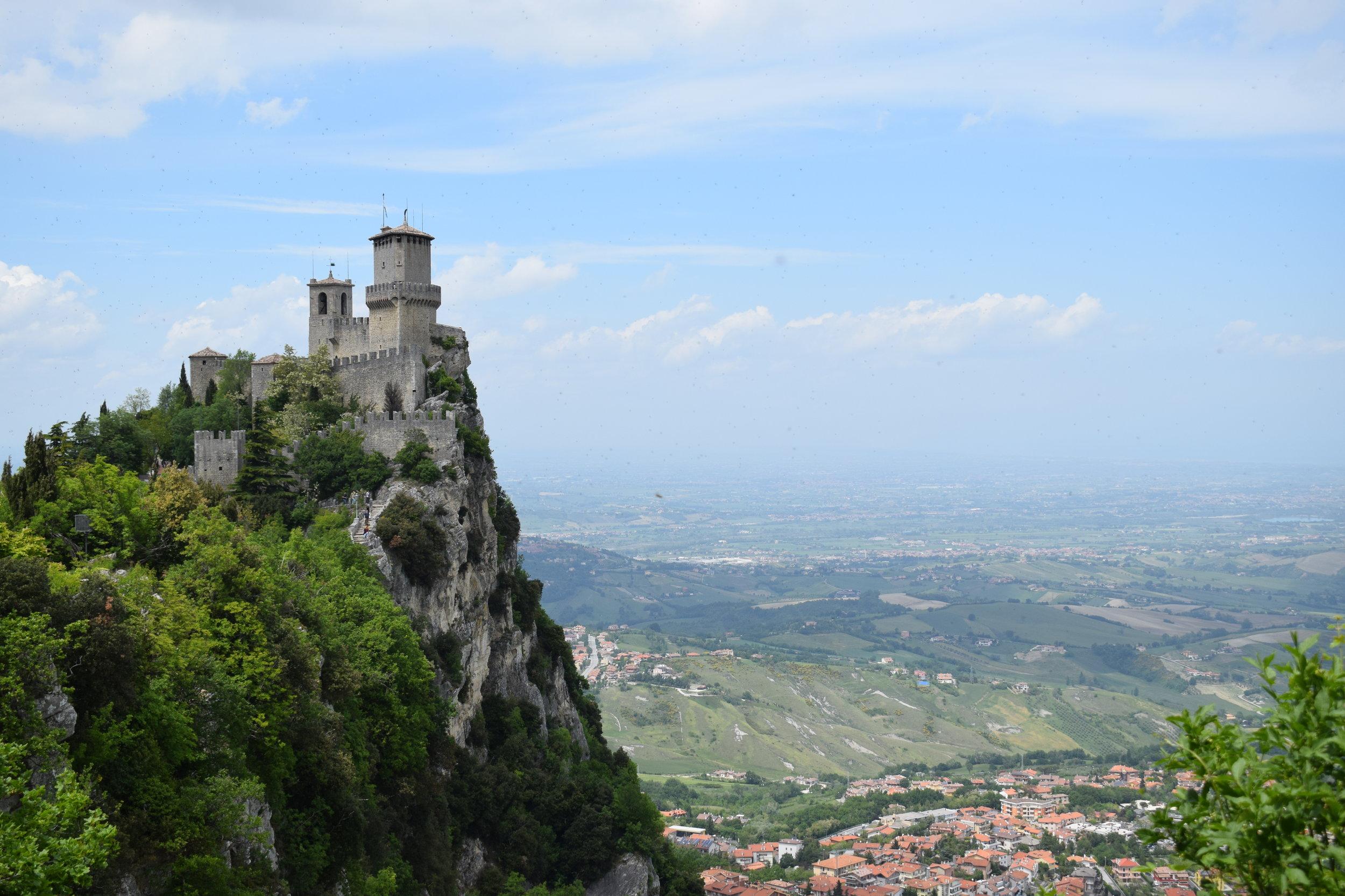 One of San Marino's three towers.