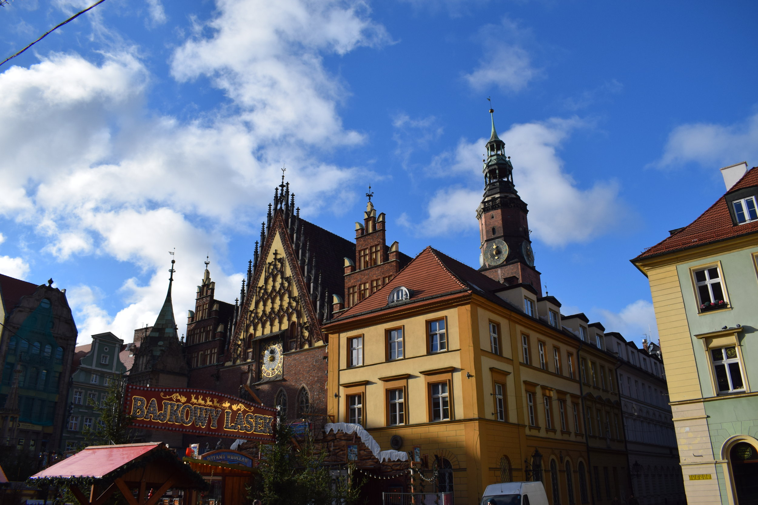 Wrocław's stunning town hall sits in the centre of Market Square.