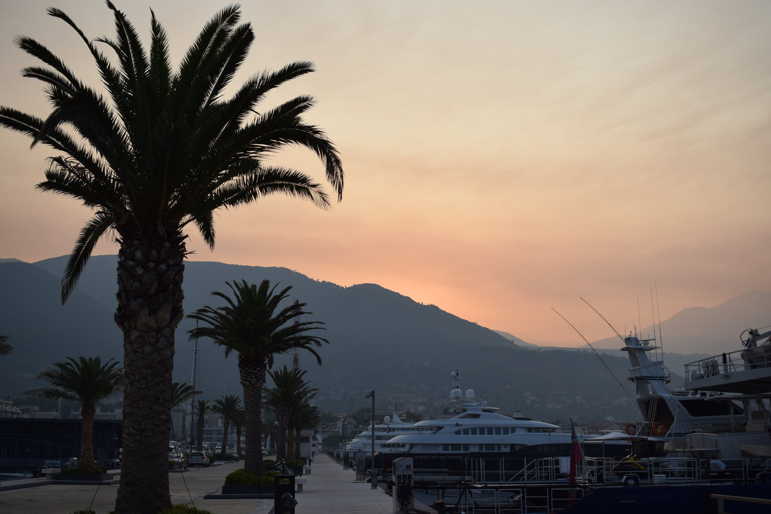 Amazing sunrises and sunsets are features of a summer stay on the Montenegrin coast.