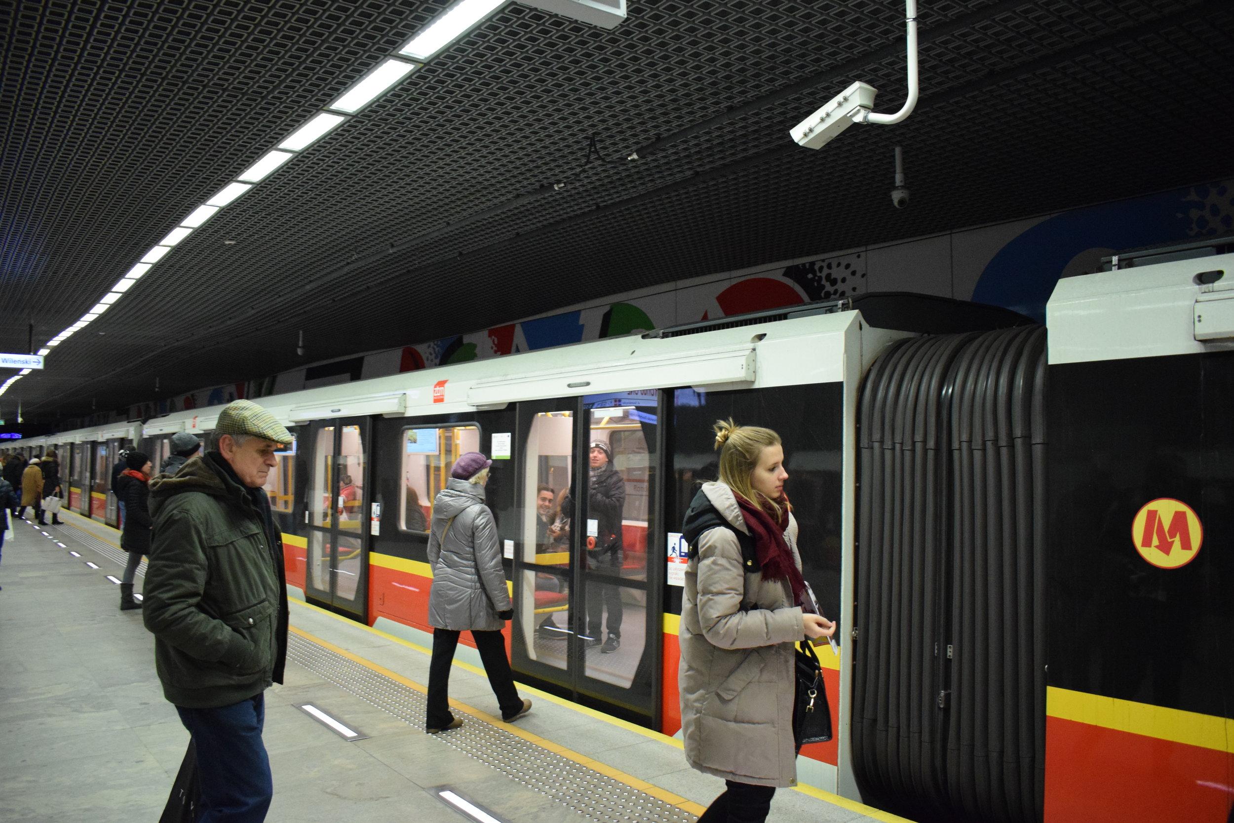 Warsaw-Metro-Train
