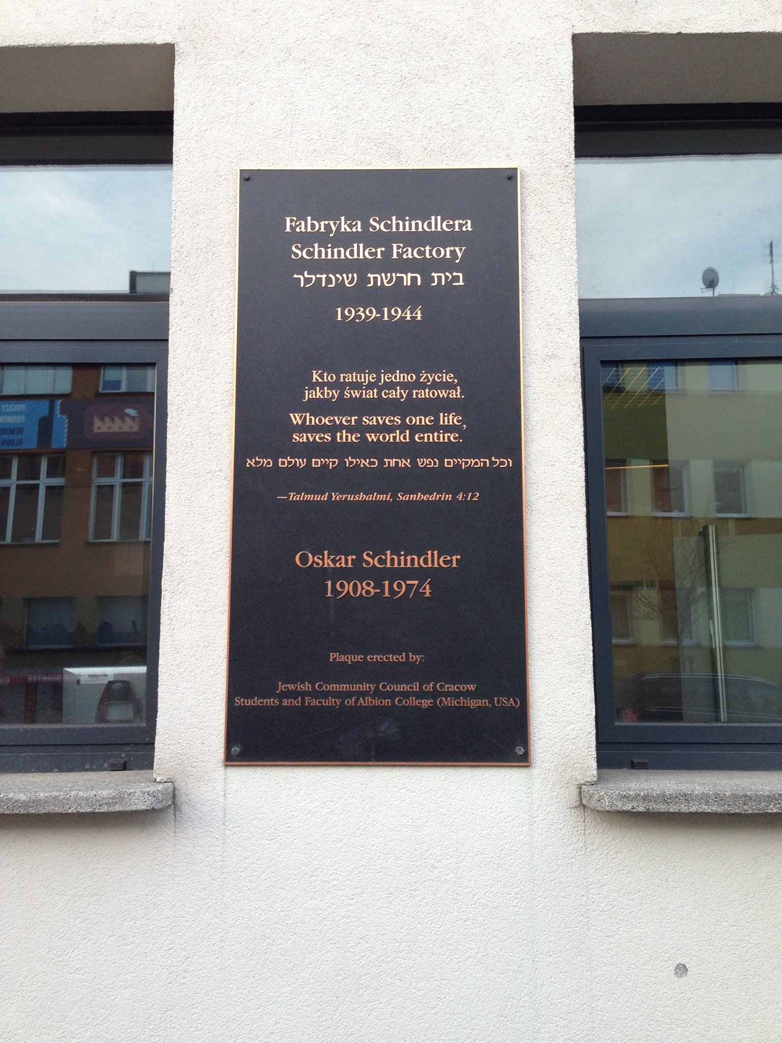 Oskar-Schindler-Plaque-Krakow-Poland