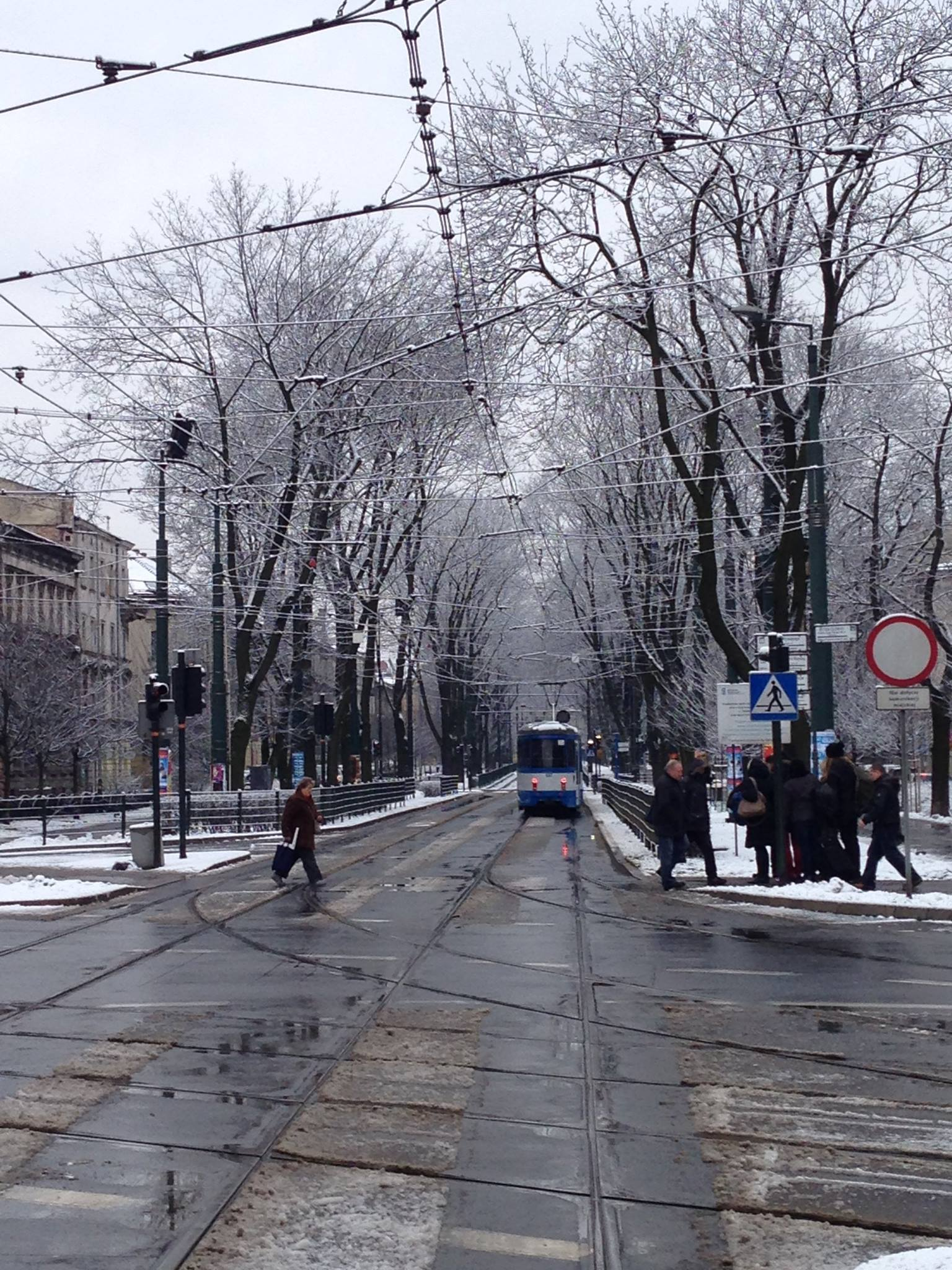 Krakow-Trams-Winter-Snow