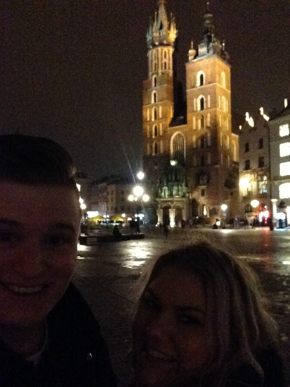 St-Marys-Basilica-Krakow-Poland-Selfie
