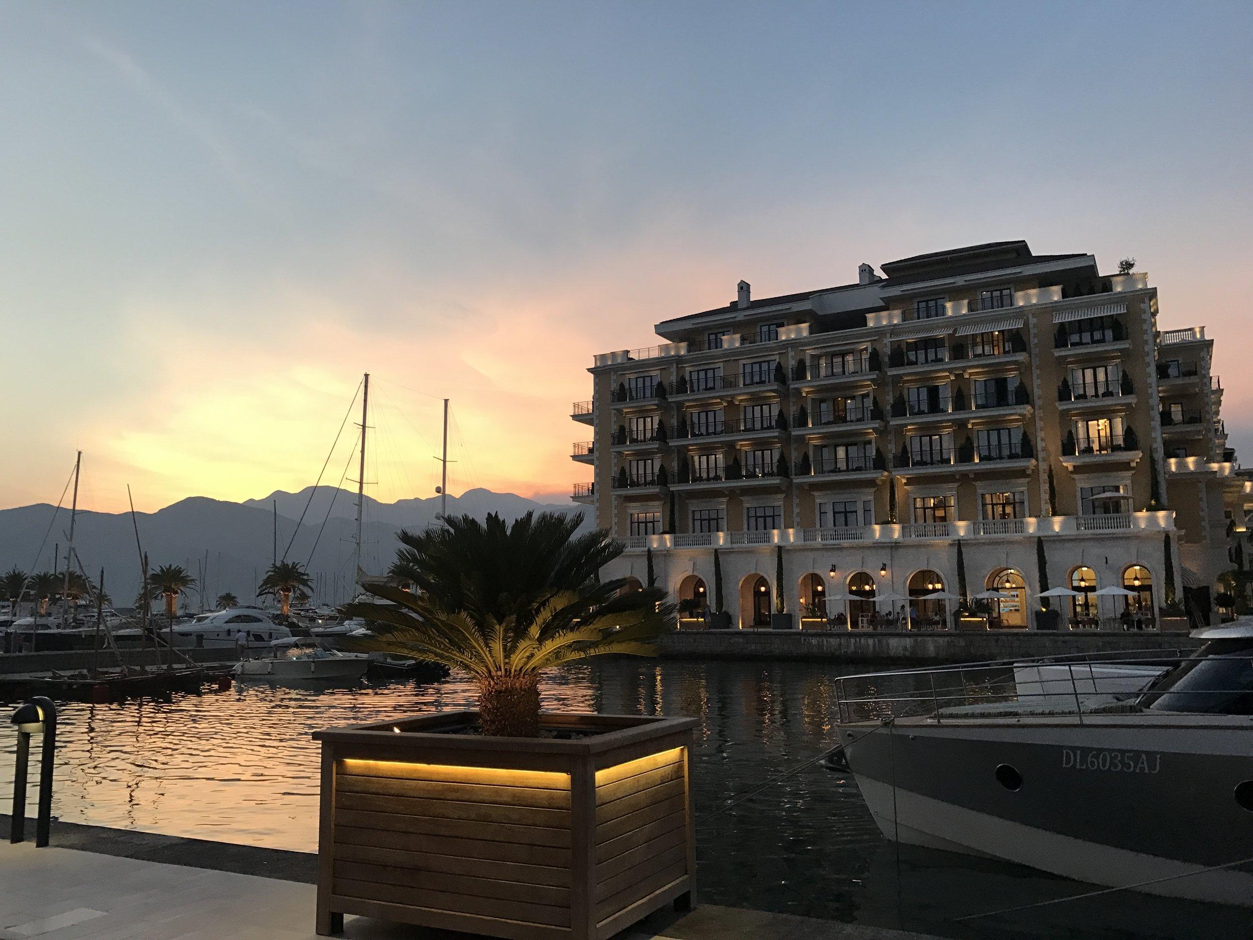 Tivat's gorgeous Porto Montenegro.