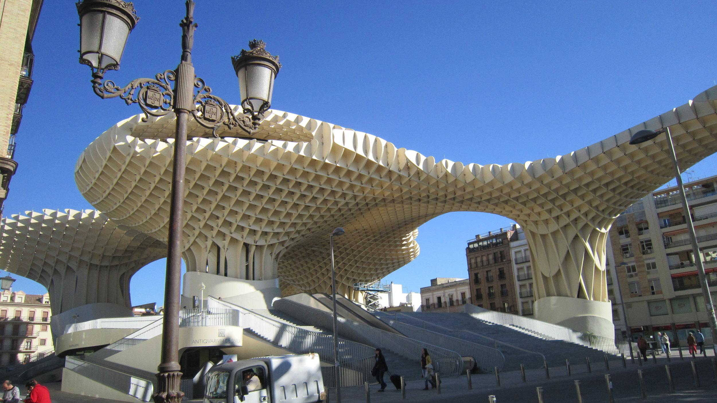 Seville's interesting Metropol Parasol.