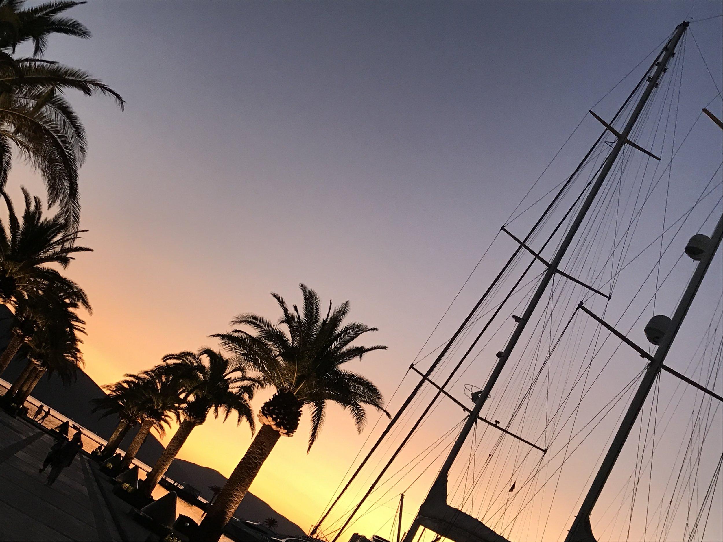Porto-Montenegro-Bay-Kotor-Sunset