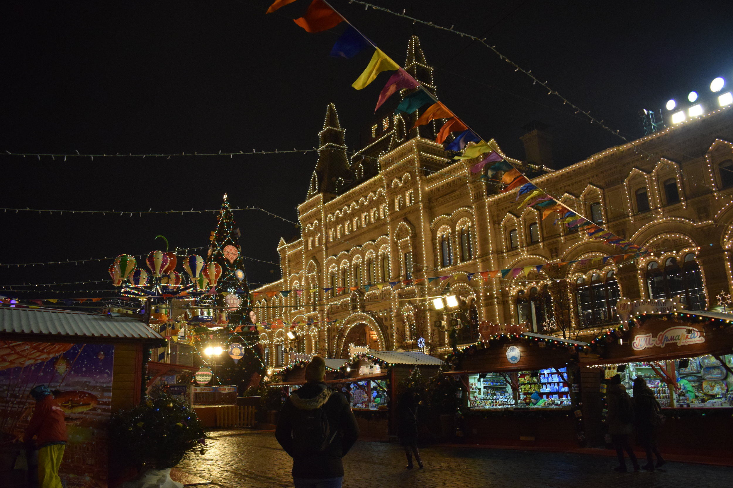 At the Red Square Christmas market in Moscow, Russia.
