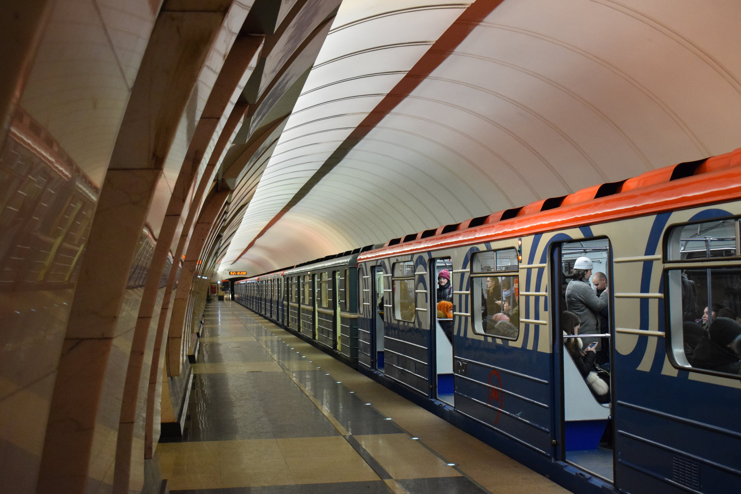 Moscow-Metro-Train-Station