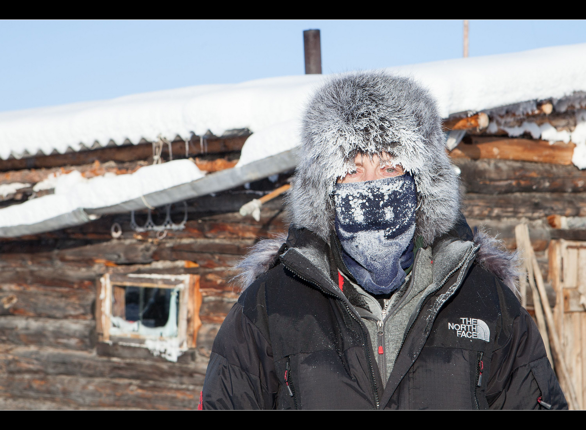 A tourist in Oymyakon - the world's coldest inhabited place. Image credit:    Maarten Takens   /   Flickr