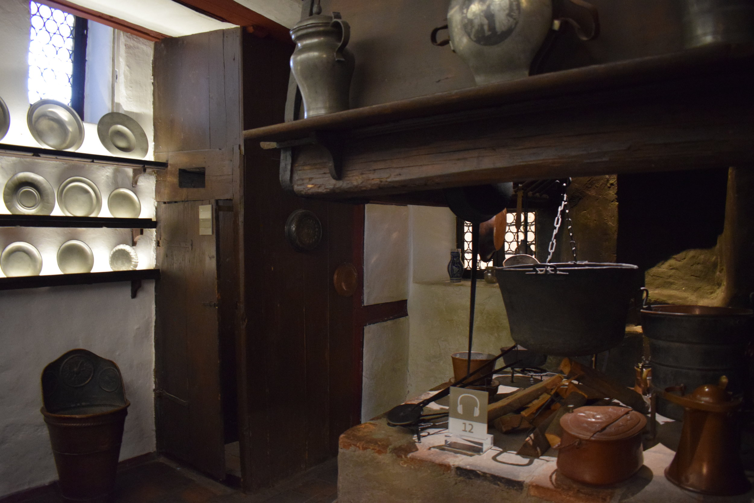 The kitchen complete with toilet which was installed when Dürer became too ill to use to outside lavatory.