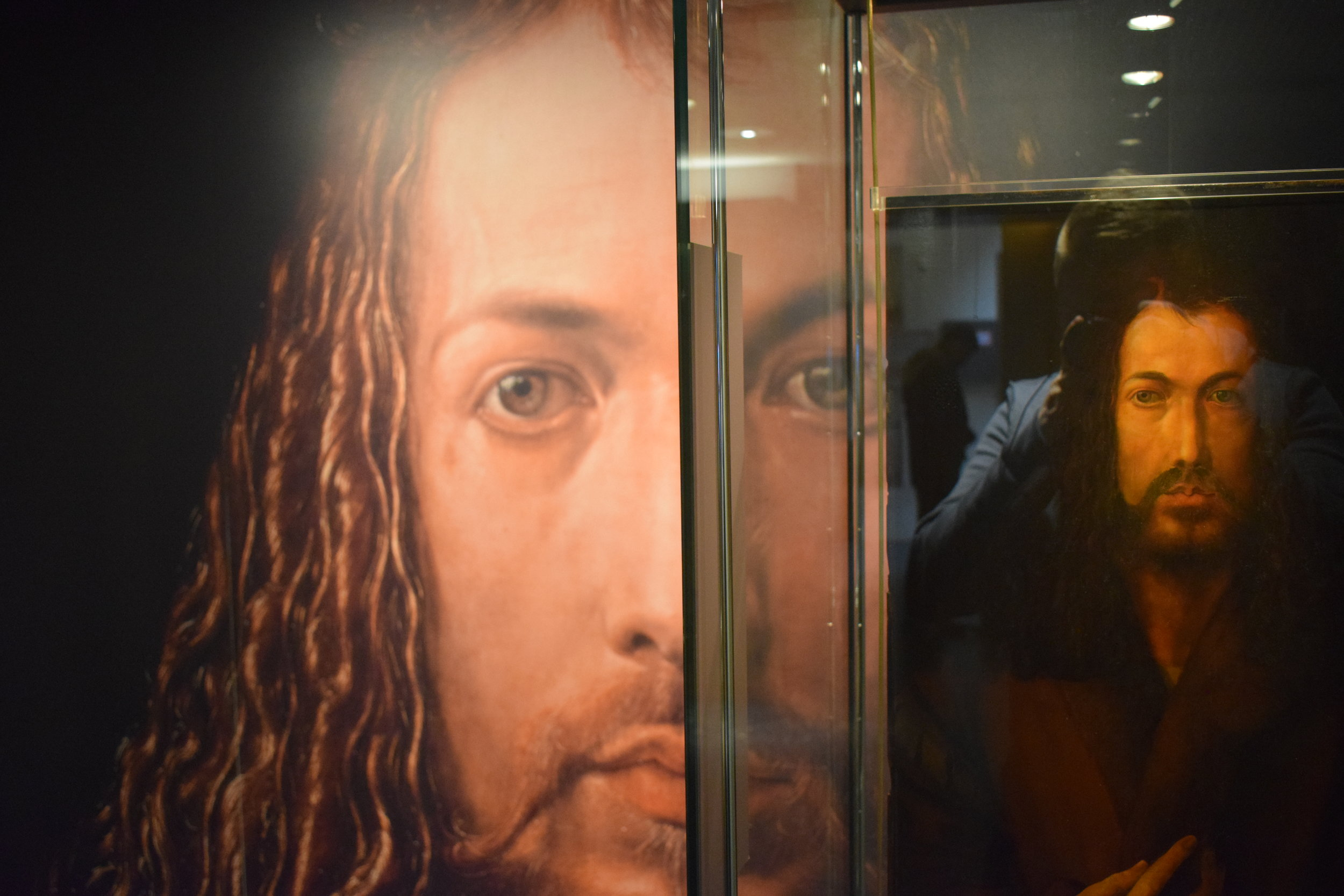 "A copy of Dürer's famous ""Self-Portrait."""