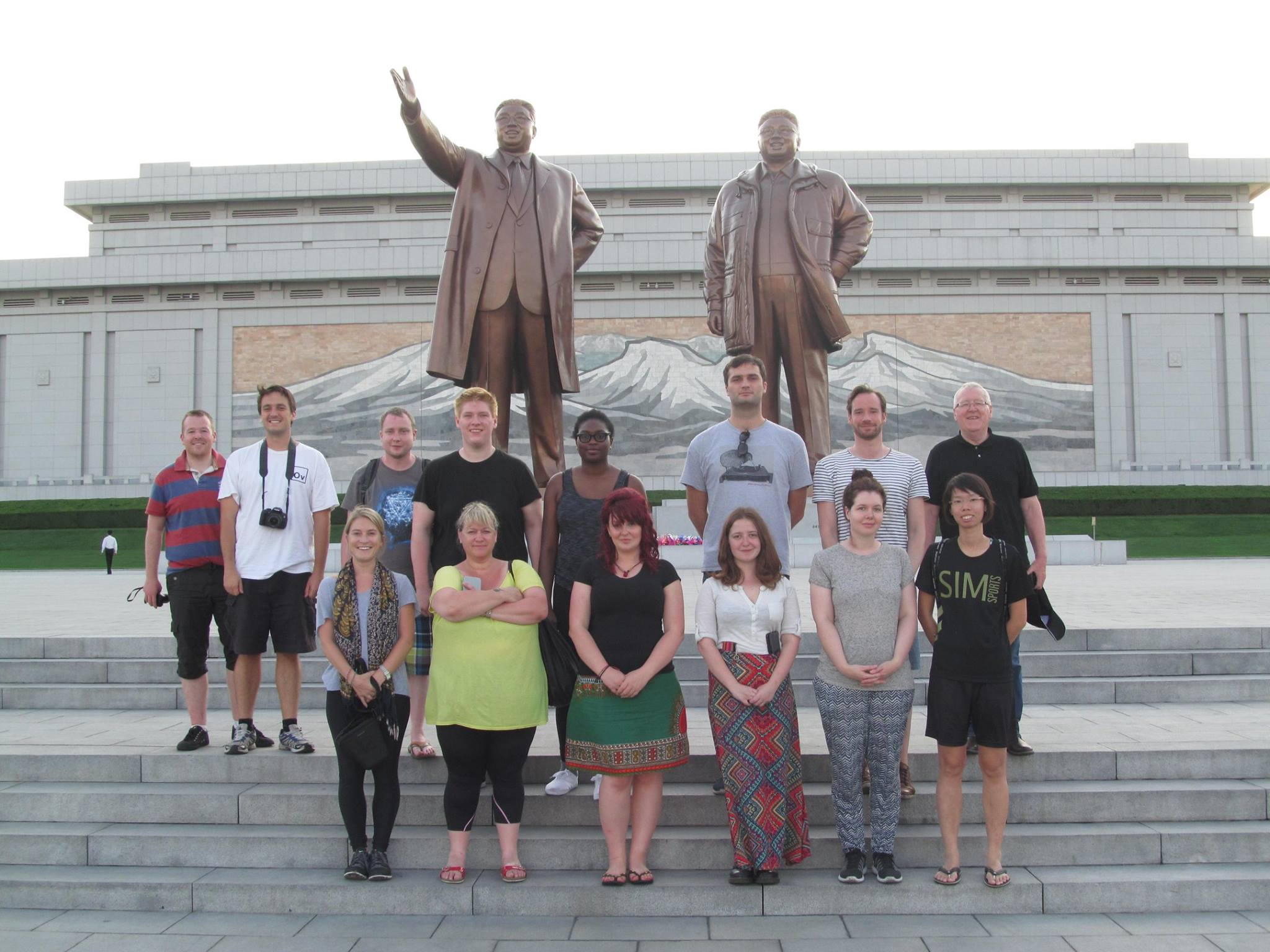 A Lupine Travel group take a photo in North Korea. Image credit:    Lupine Travel