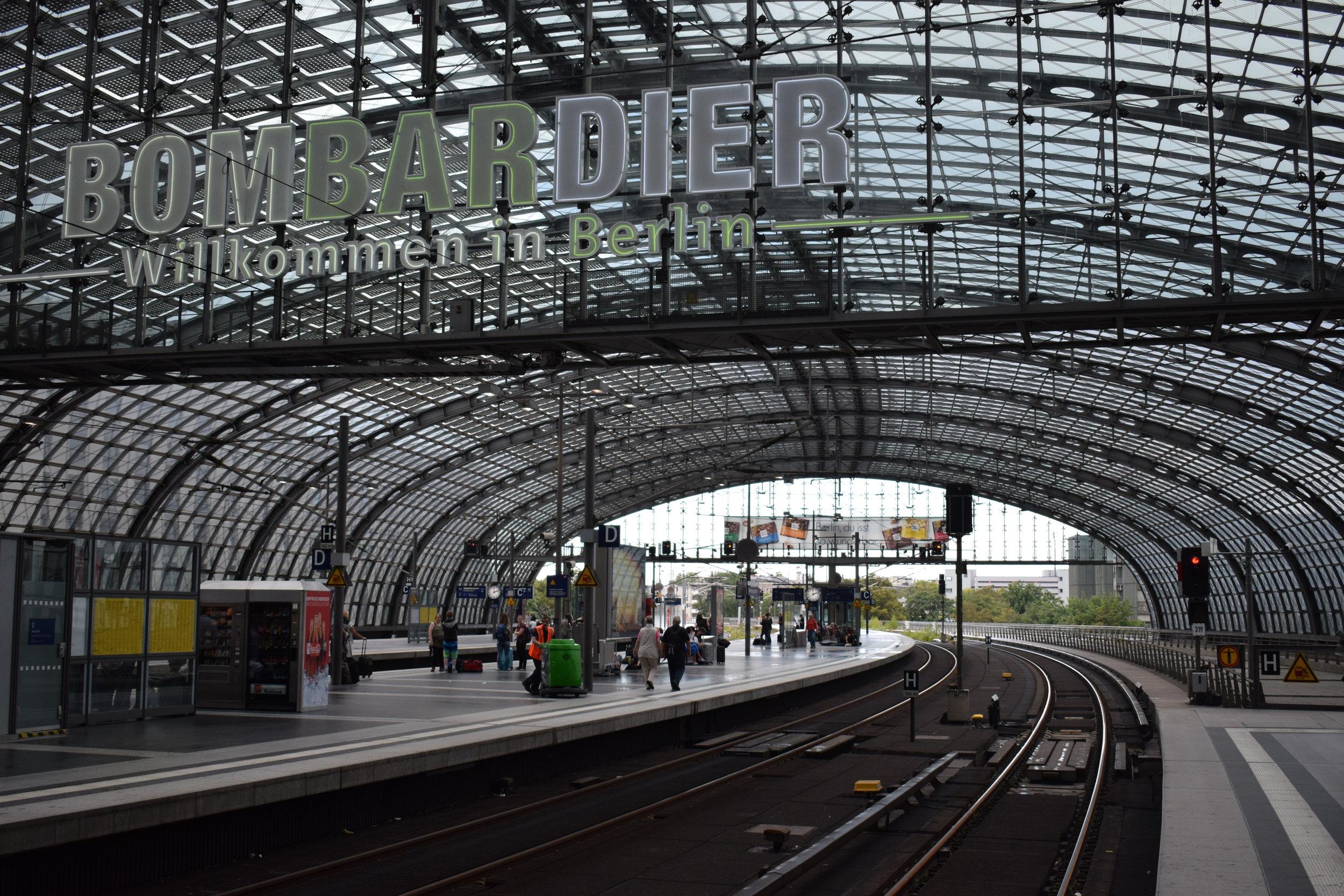 Berlin Hauptbahnhof - one of the city's main gateways.