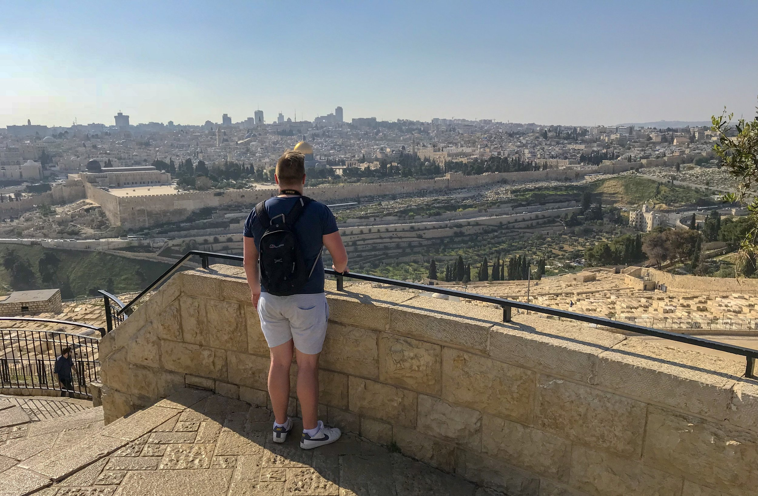 Looking across the Old City of Jerusalem from the Mount of Olives.