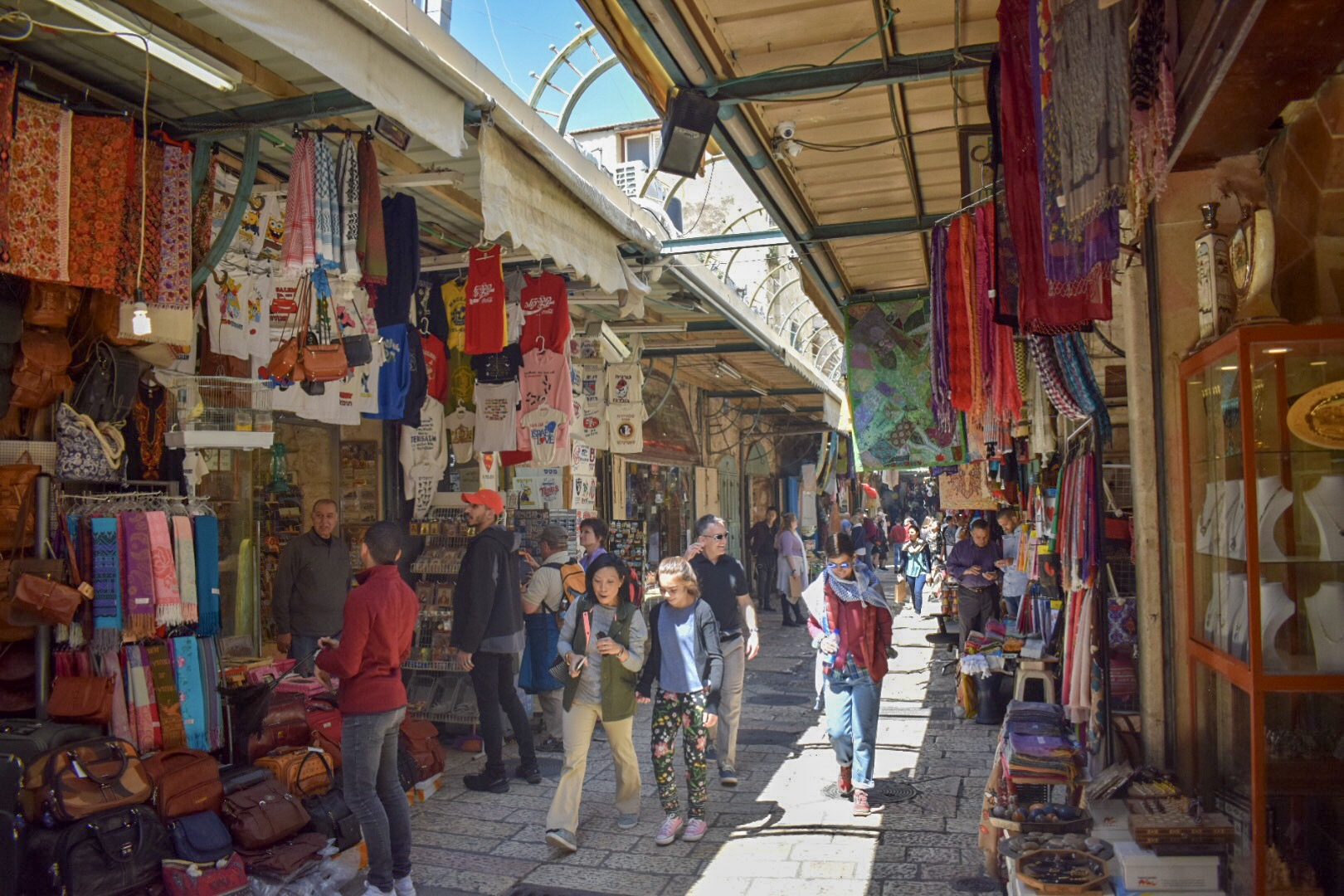The colours of Jerusalem's markets come to life in the sun.