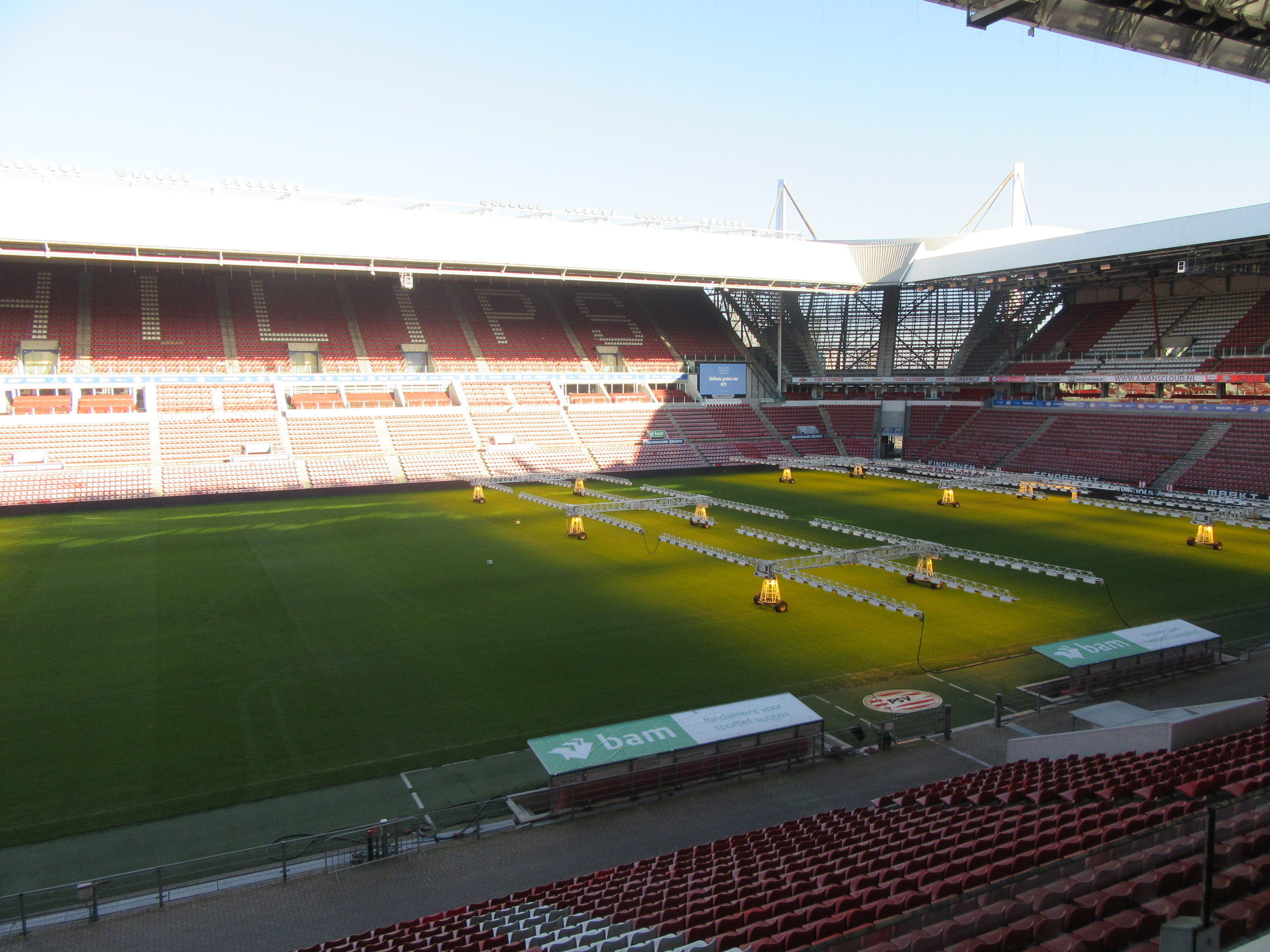 Inside Philips Stadion - the home ground of PSV Eindhoven.