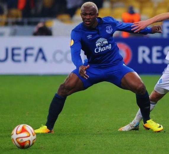 Arouna Kone playing for Everton in Kiev. Image credit:Илья Хохлов/ Creative Commons