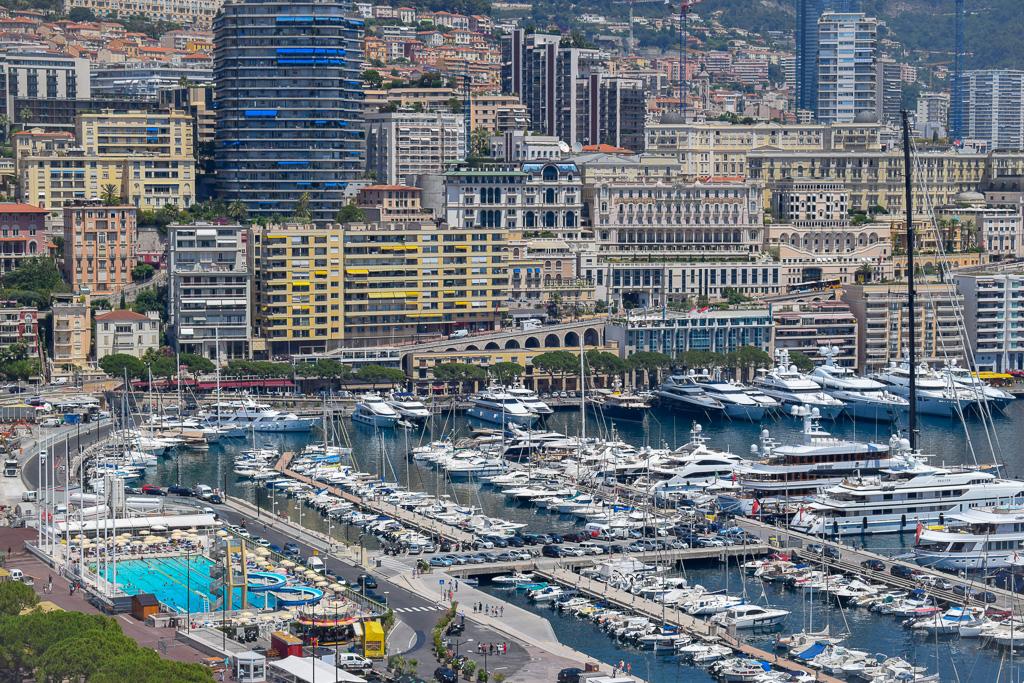 Looking over Port Hercules in Monaco.