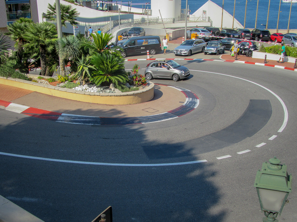Monaco's Fairmont Hairpin - the slowest corner of any Formula 1 track.