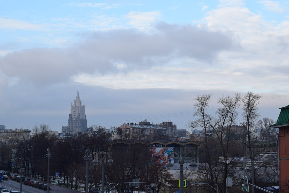 A view of Moscow's cityscape in the day.