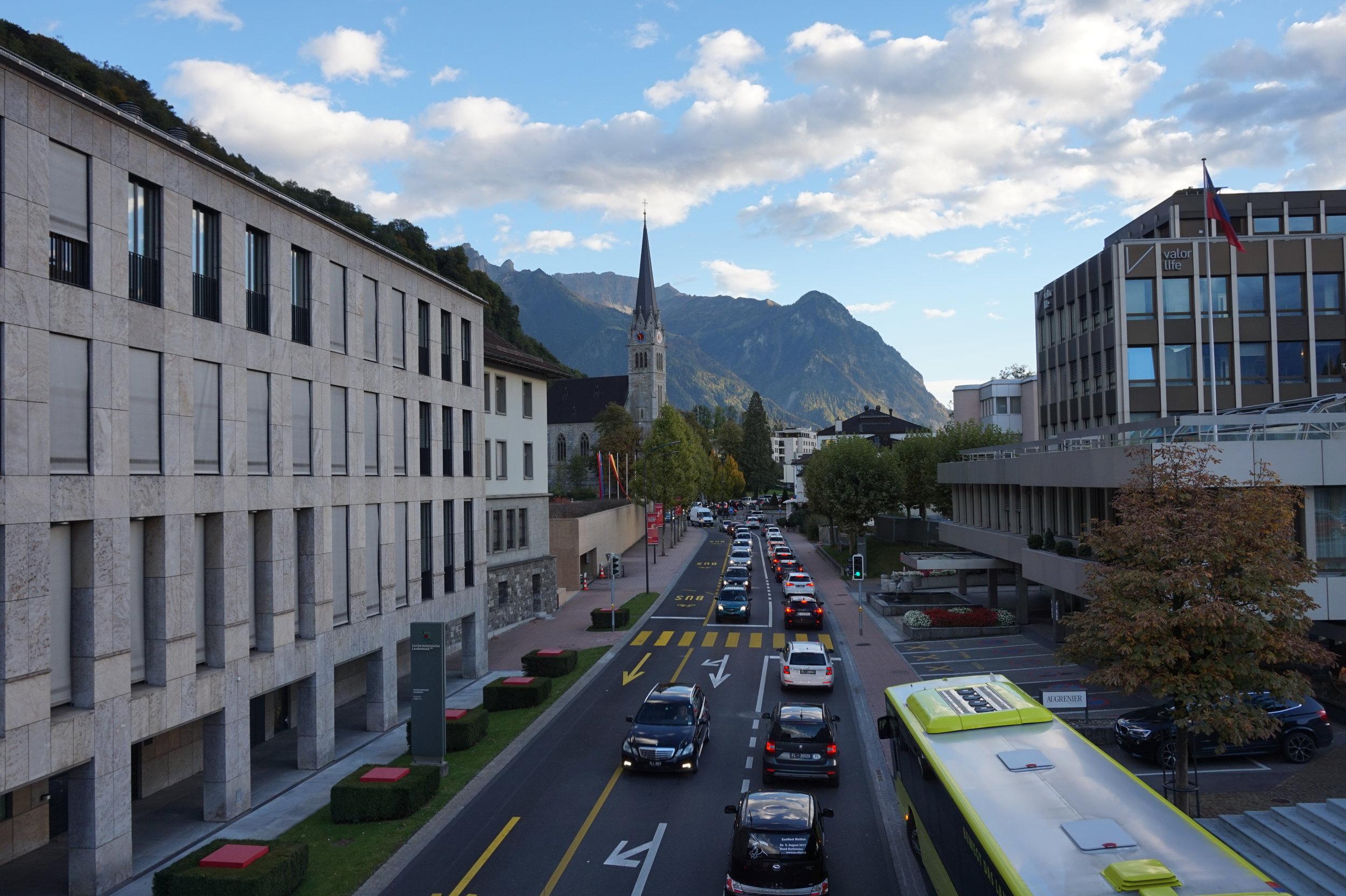 Liechtenstein's capital, Vaduz.