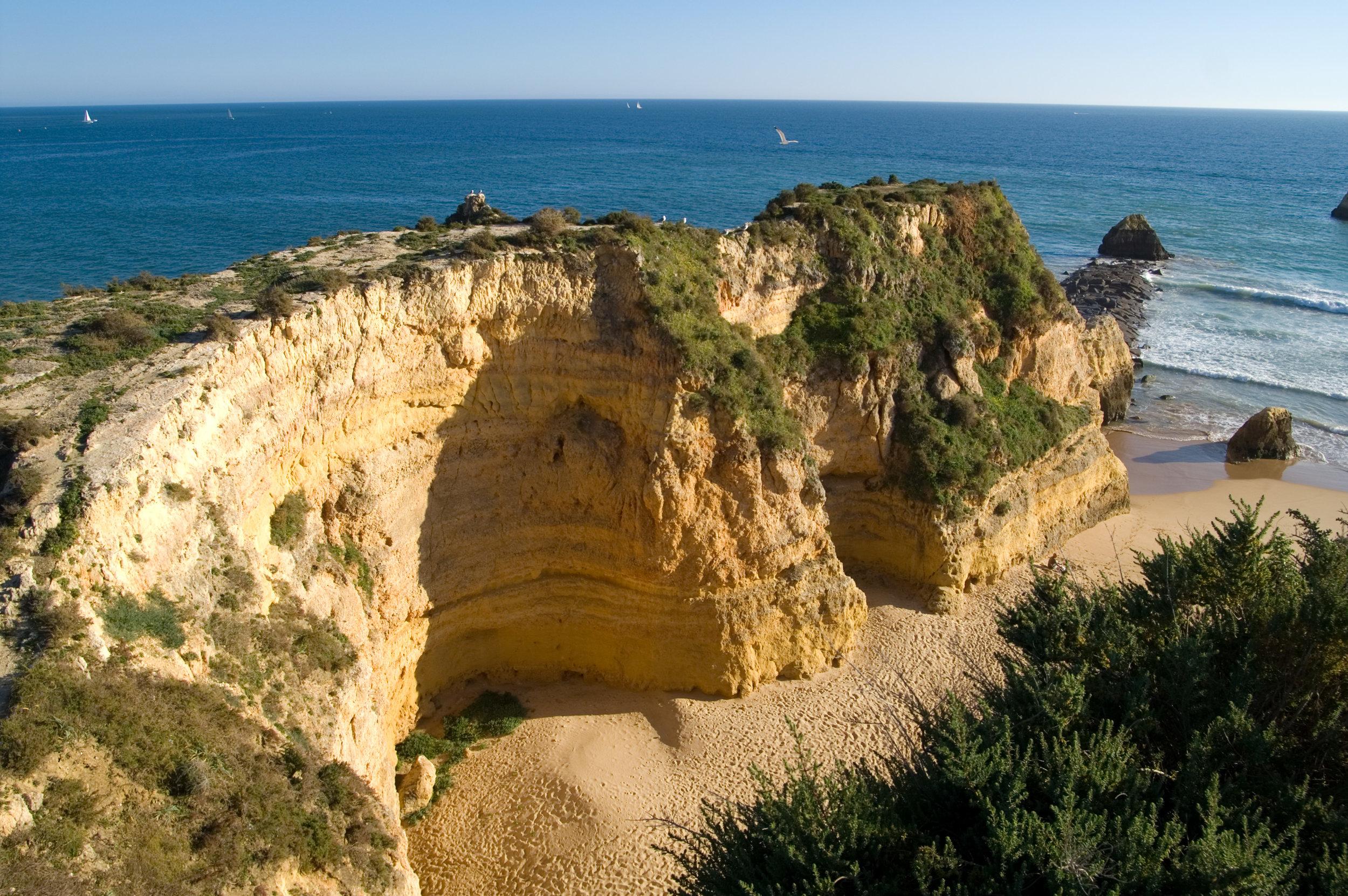 The Algarve's rocky Praia da Rocha beach is certainly worth visiting. Image credit:  Mechel / Creative Commons