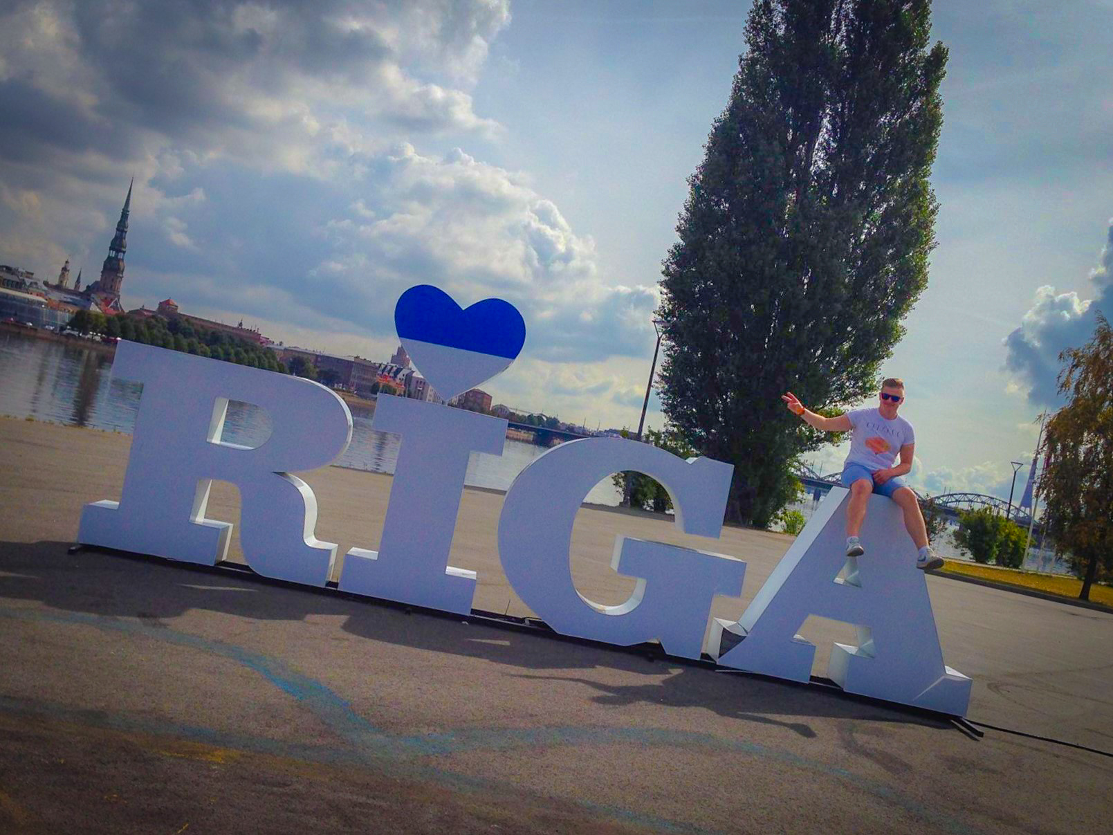 Make sure to stop by the Riga sign to get your next Instagram.