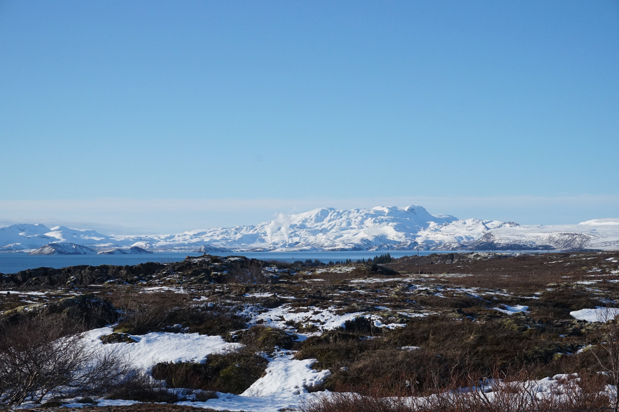 Go to Iceland in autumn and visit beautiful places like Thingvellir National Park.