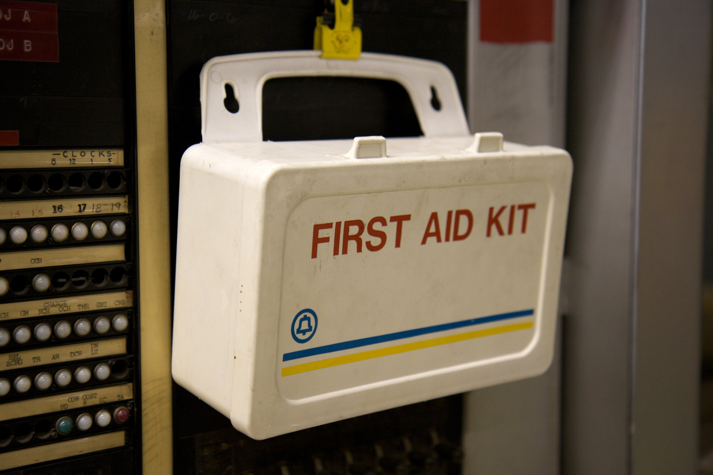 A first-aid kit may come in handy in a medical emergency. Image credit:  Marcin Wichary / Creative Commons
