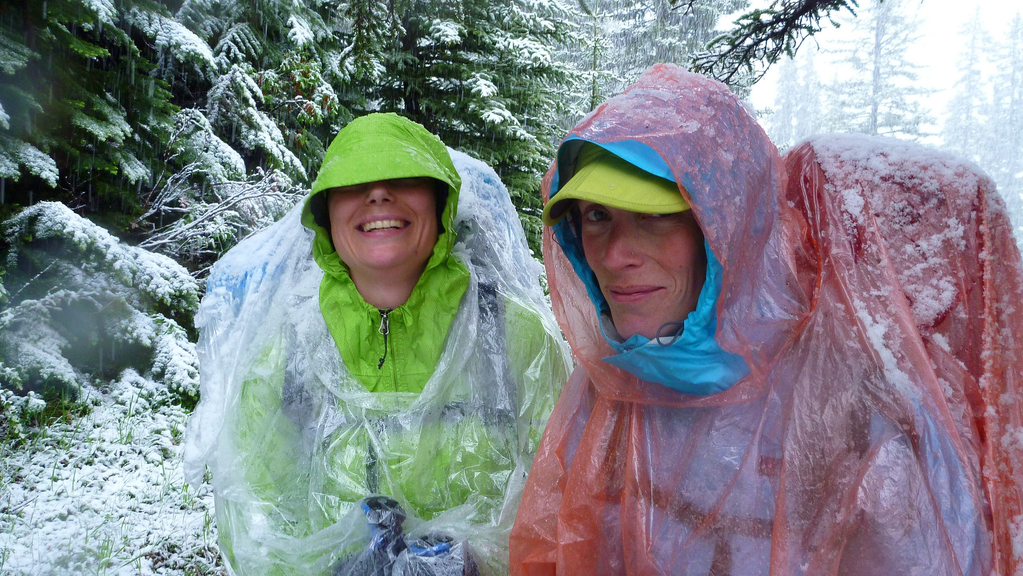 Ponchos are not just good for covering yourself, but also your travel accessories. Image credit:  Ribeka Kim / Creative Commons