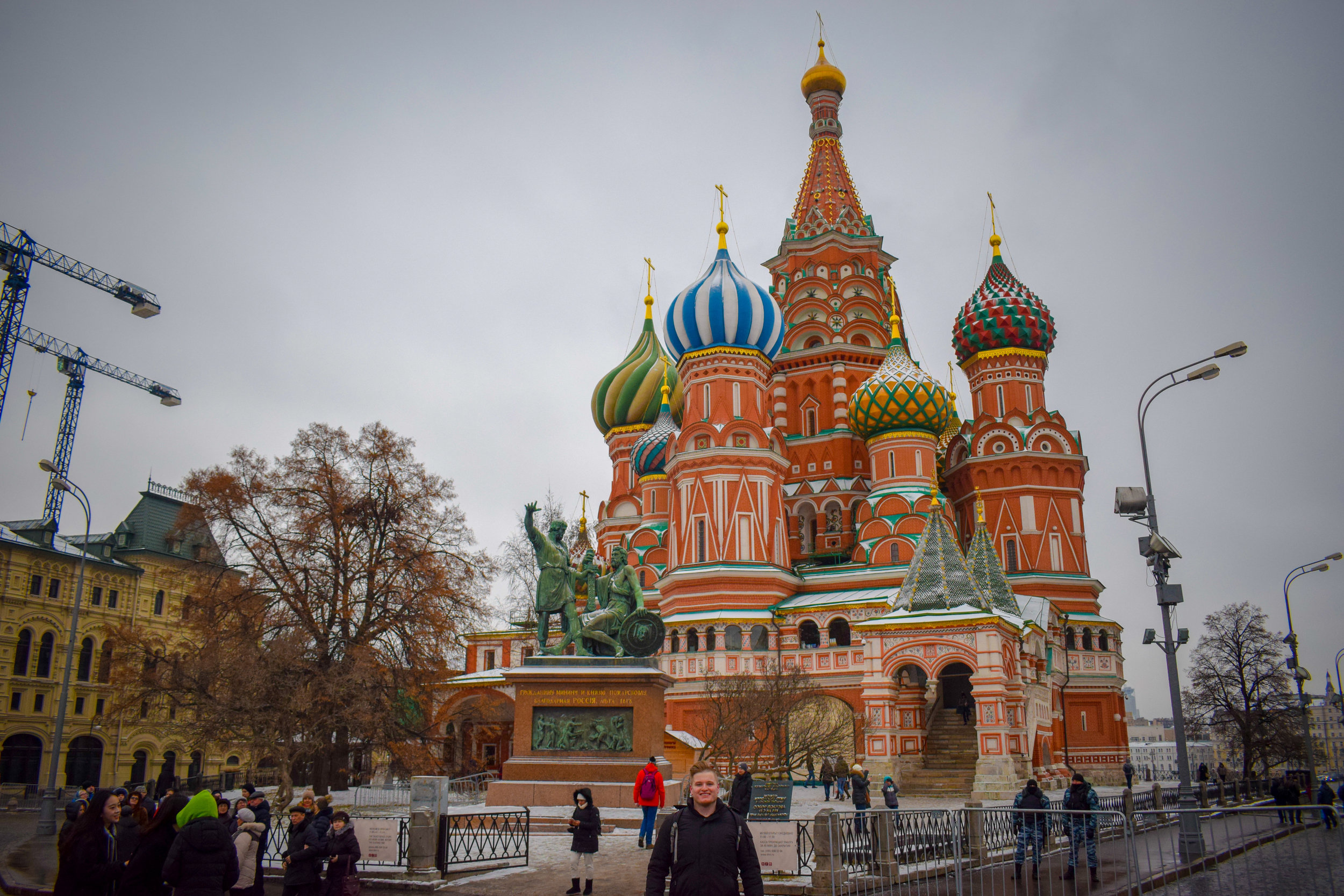 Visiting Moscow's Red Square - an eastern European icon.