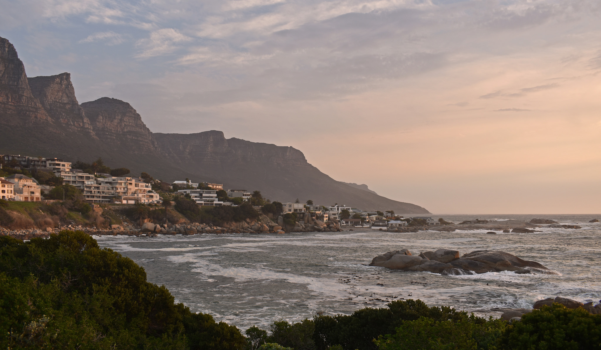 Camps Bay, a suburb of Cape Town, is a great place for scenic views. Image credit:    Harshil Shah   /   Creative Commons