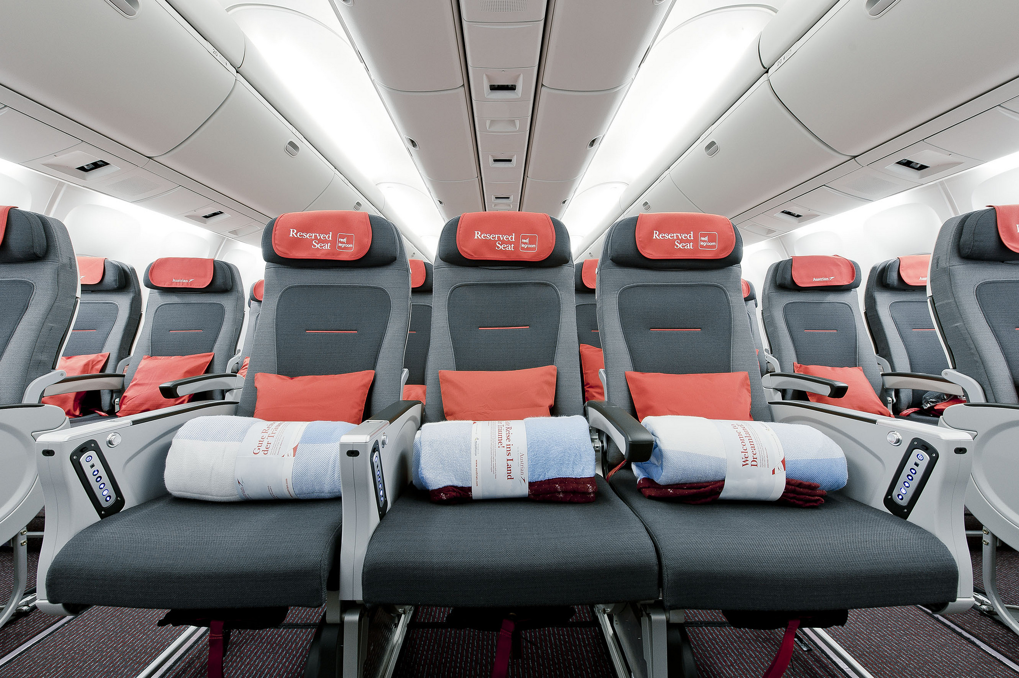 Reserved seating on an Austrian Airlines flight. Image credit:    Austrian Airlines   /   Creative Commons
