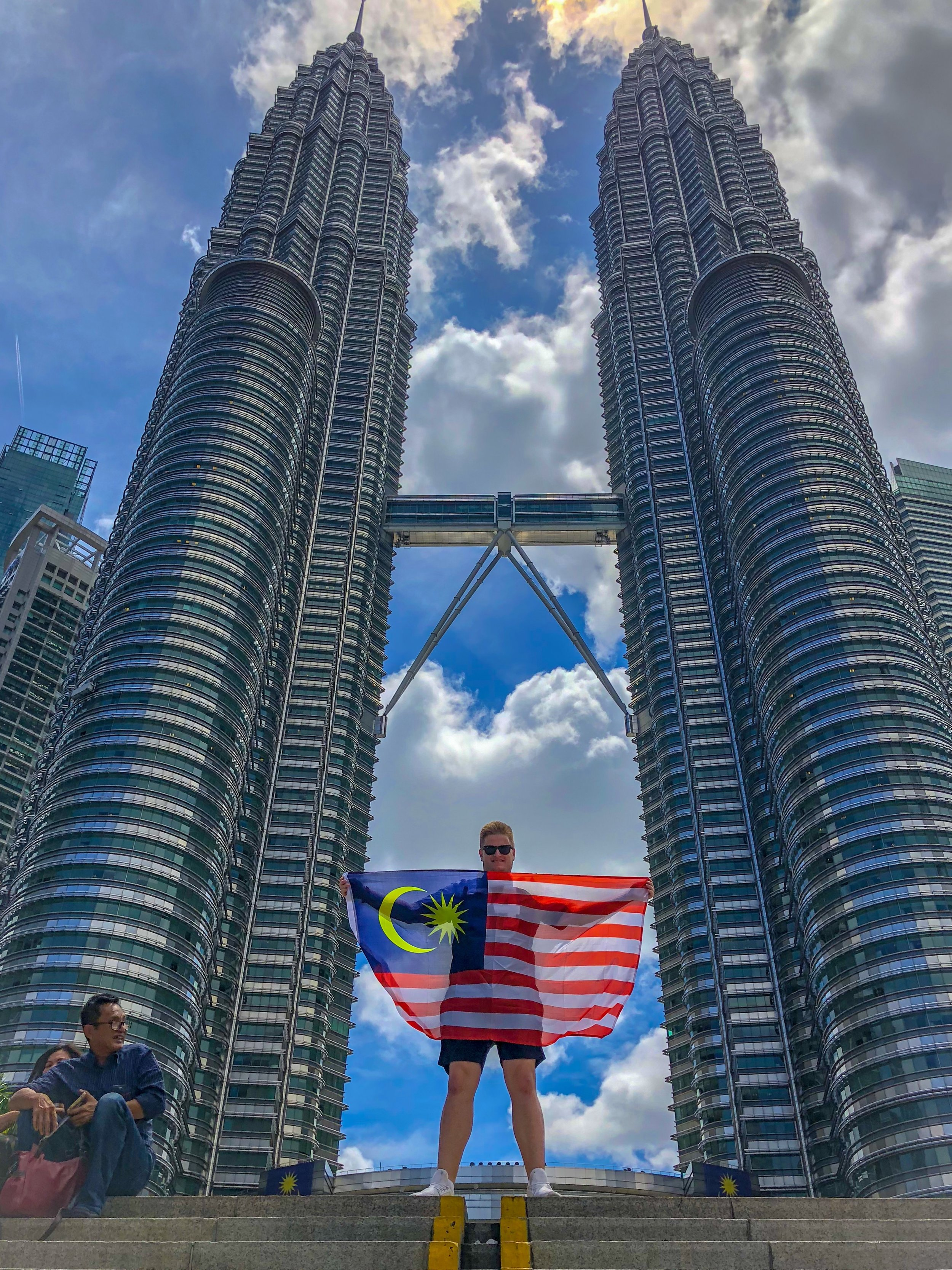 Getting the iconic shot underneath the Petronas Twin Towers.