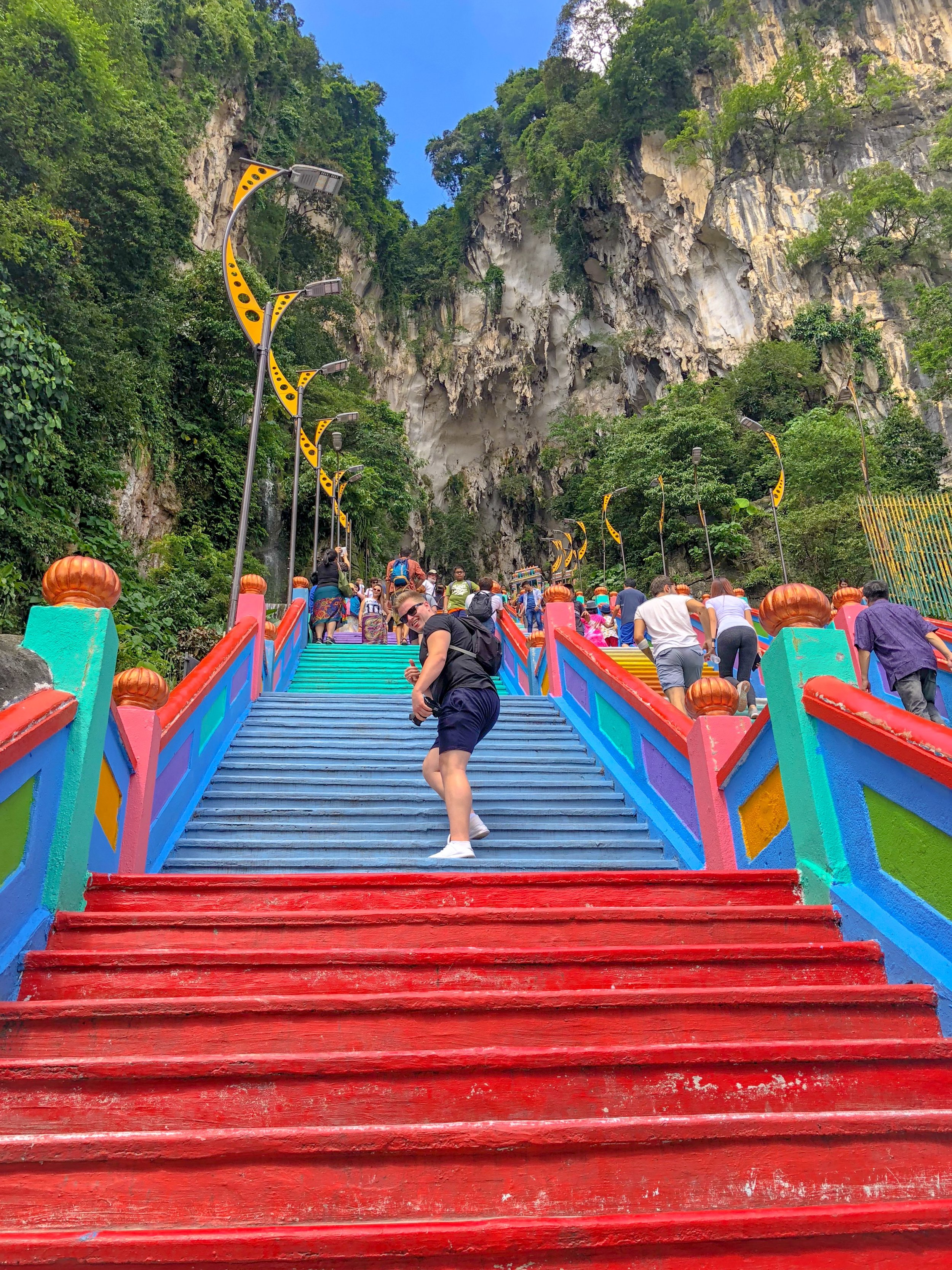 The Batu Caves are probably Kuala Lumpur's most colourful spot.