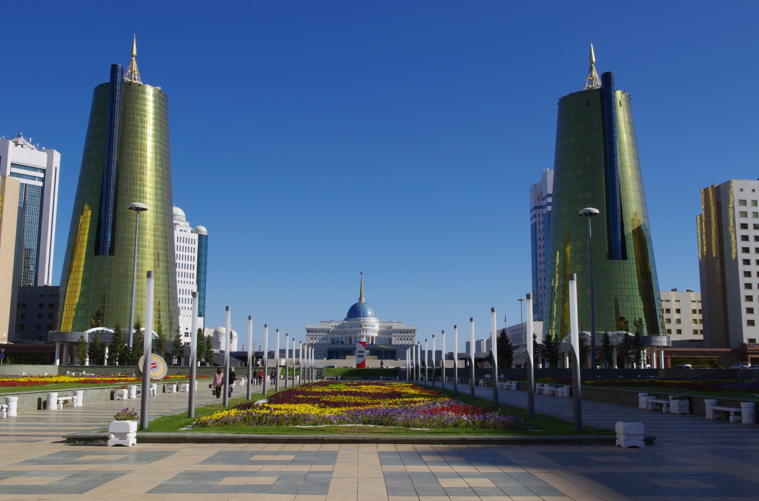 The famous 'Beer Cans' of Kazakhstan's capital. Image credit:    Ken and Nyetta   /   Creative Commons