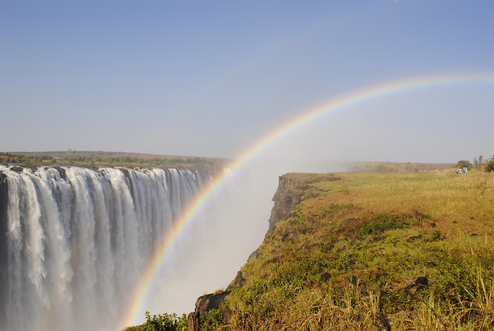 Victoria Falls is shared by both Zambia and Zimbabwe.