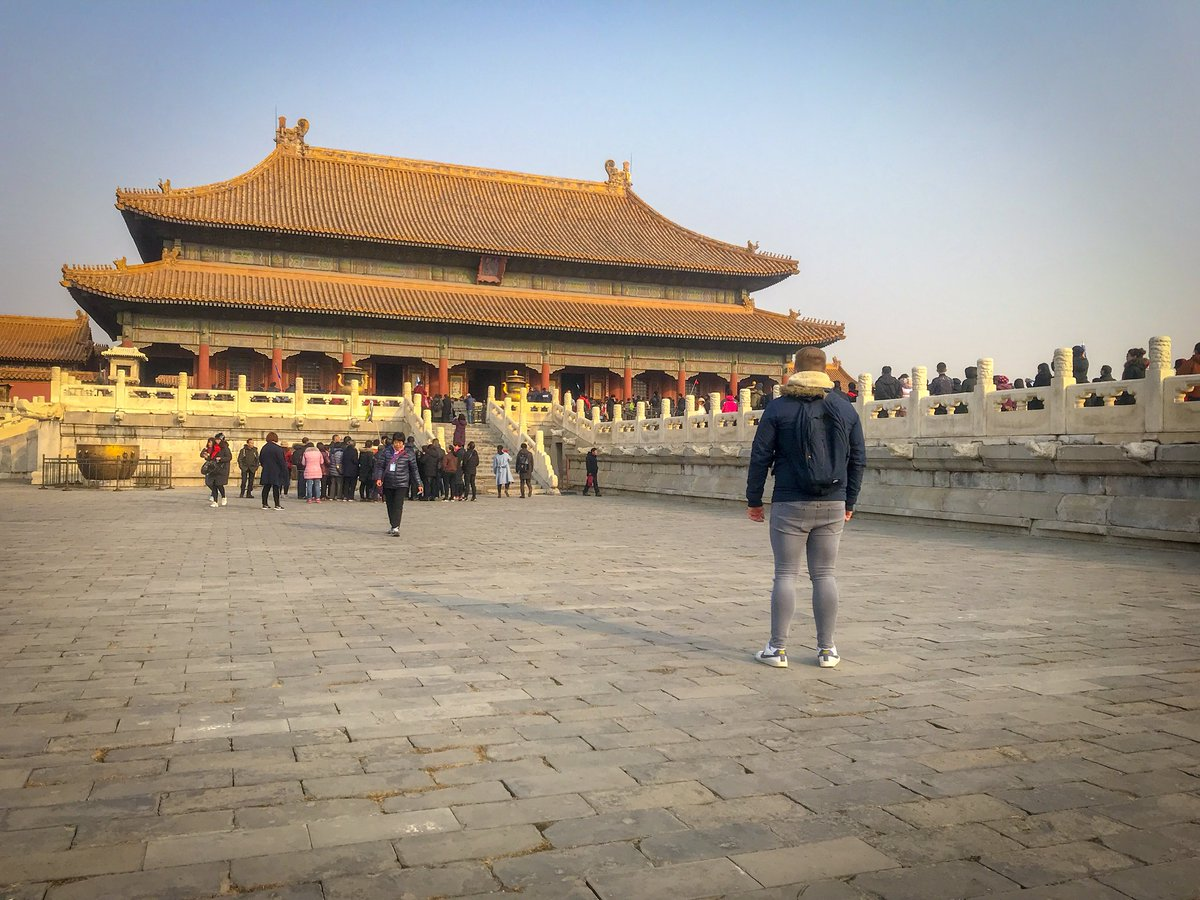 I was alone at Beijing's Forbidden City until I was approached by various Chinese people who wanted a photo with me. I guess they don't see white people much.