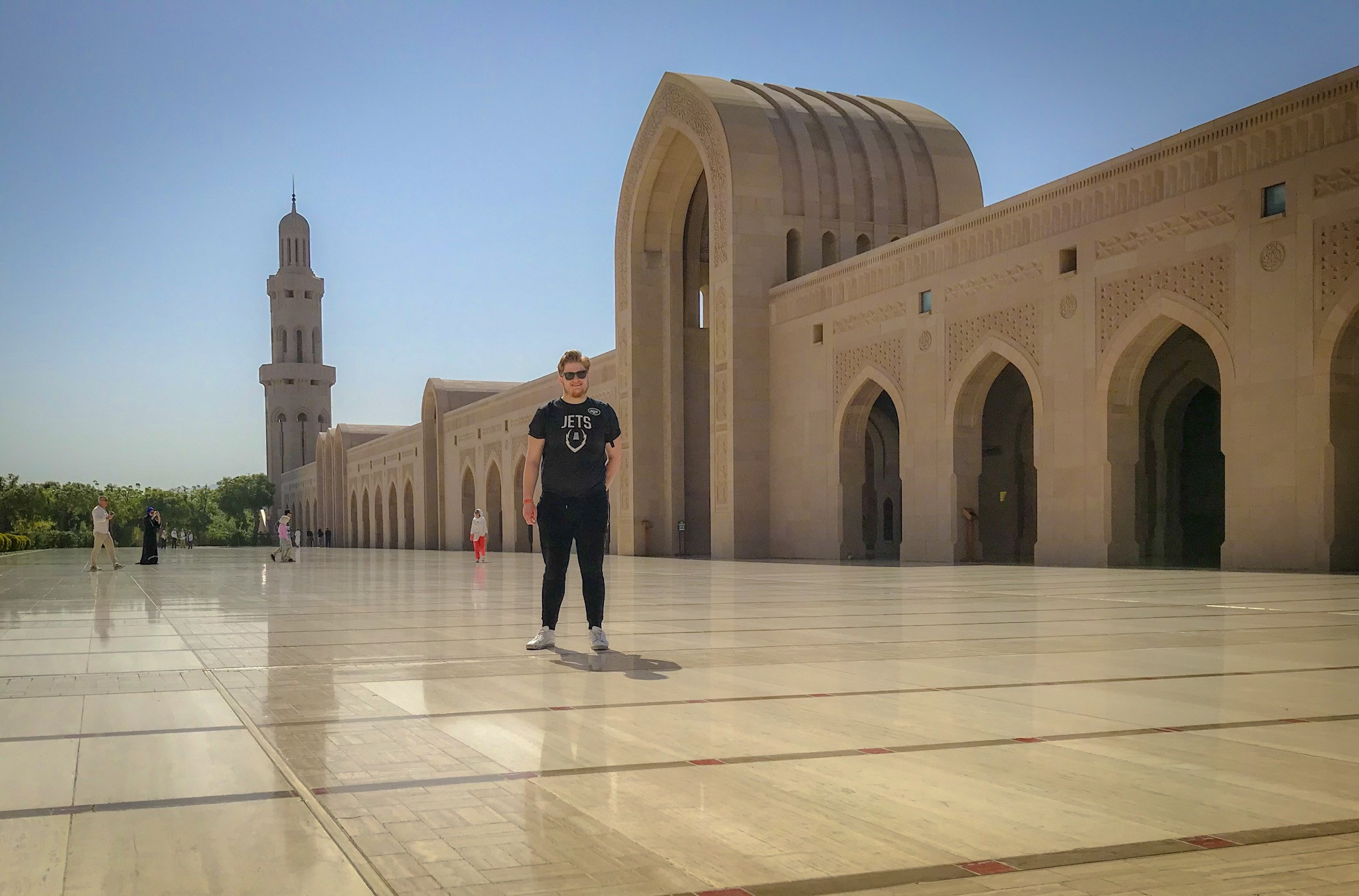 I spent part of my birthday at Sultan Qaboos Grand Mosque in Muscat, Oman.