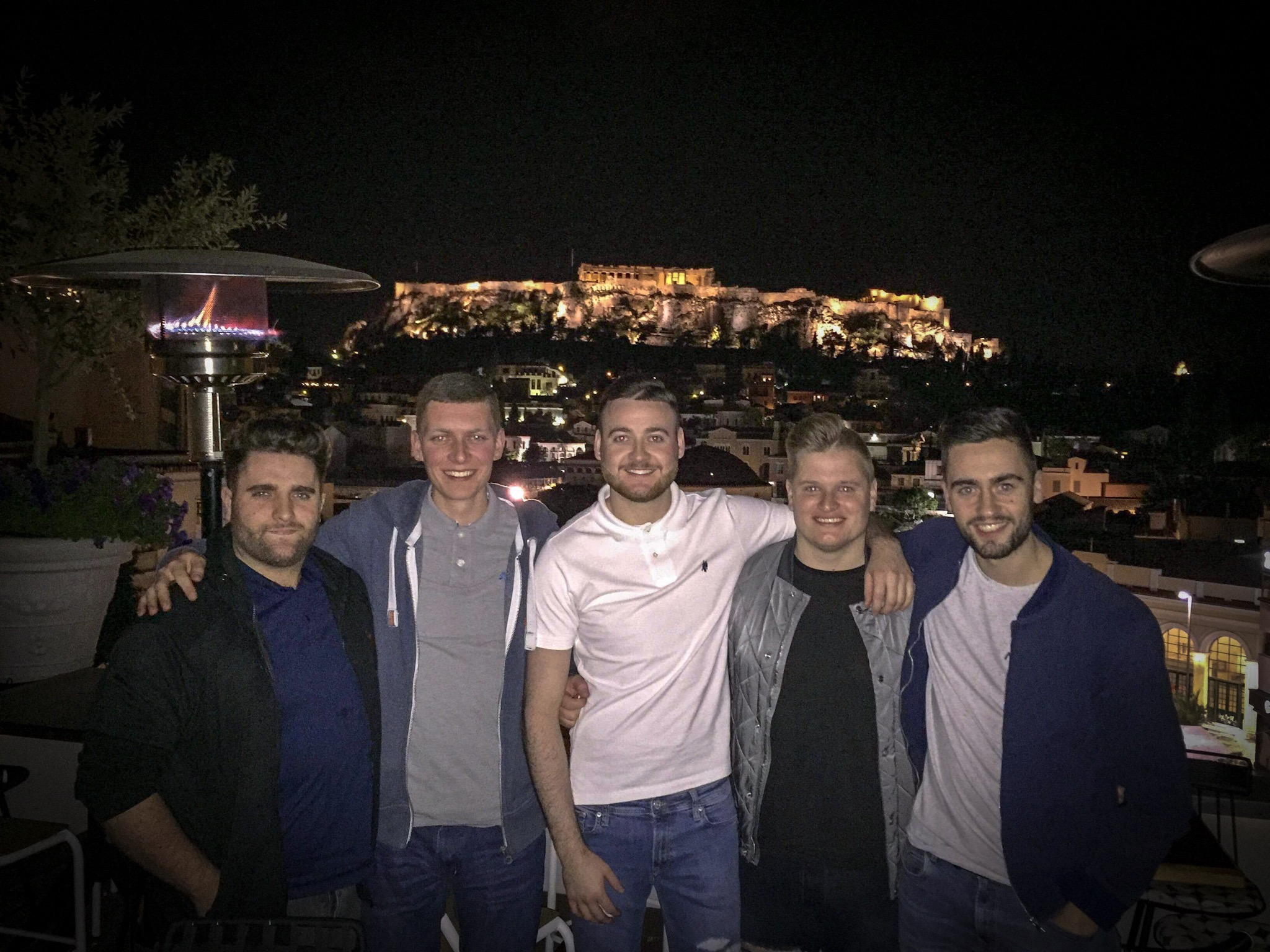 Celebrating my birthday in Athens last year with the lads.