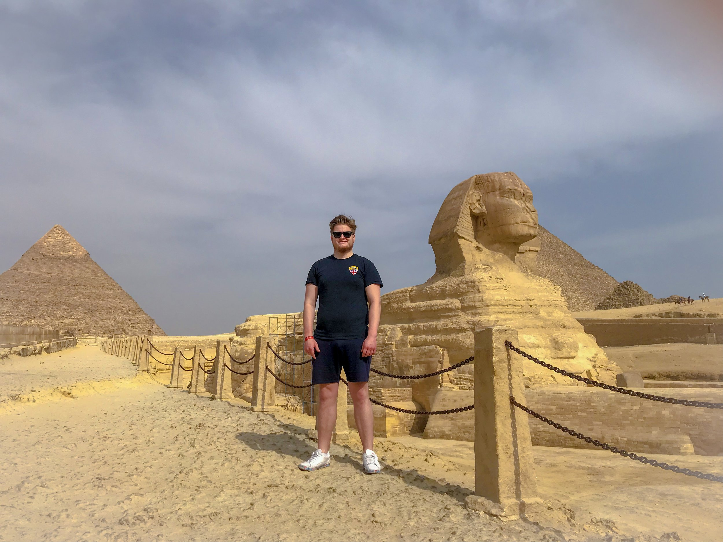 Visiting the Pyramids of Giza and Sphinx was another bucket list moment for me.